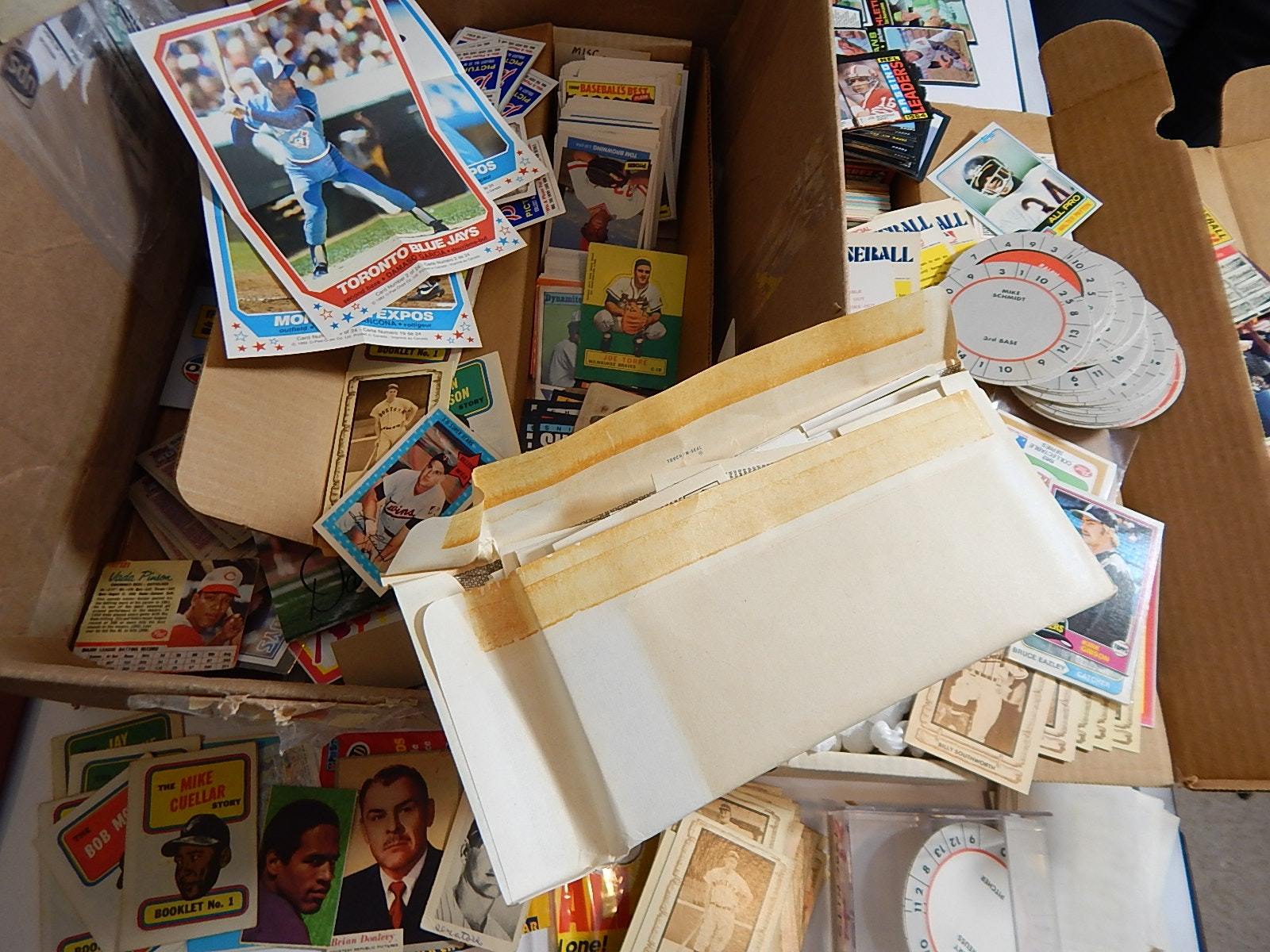 Large Sports Card Collection with Baseball, Football, and Basketball