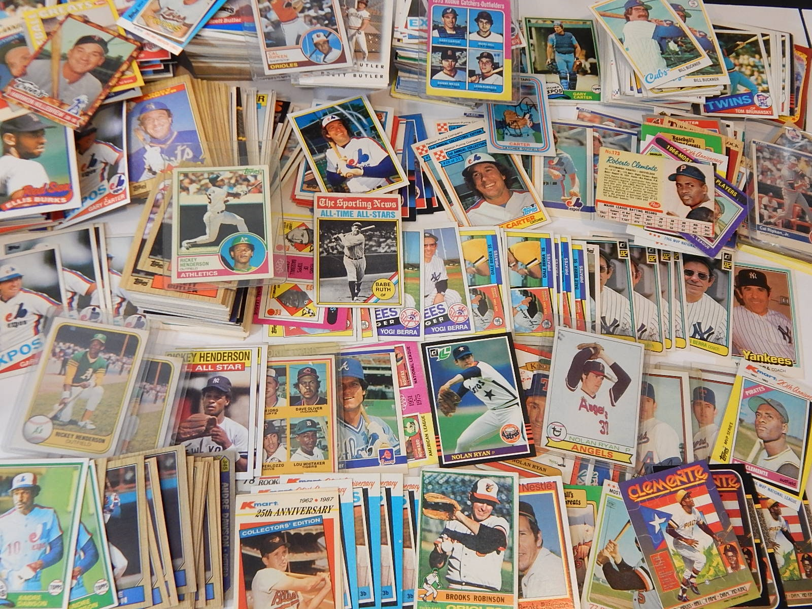 1970s and 1980s Baseball Card Collection with 1962 Post Roberto Clemente