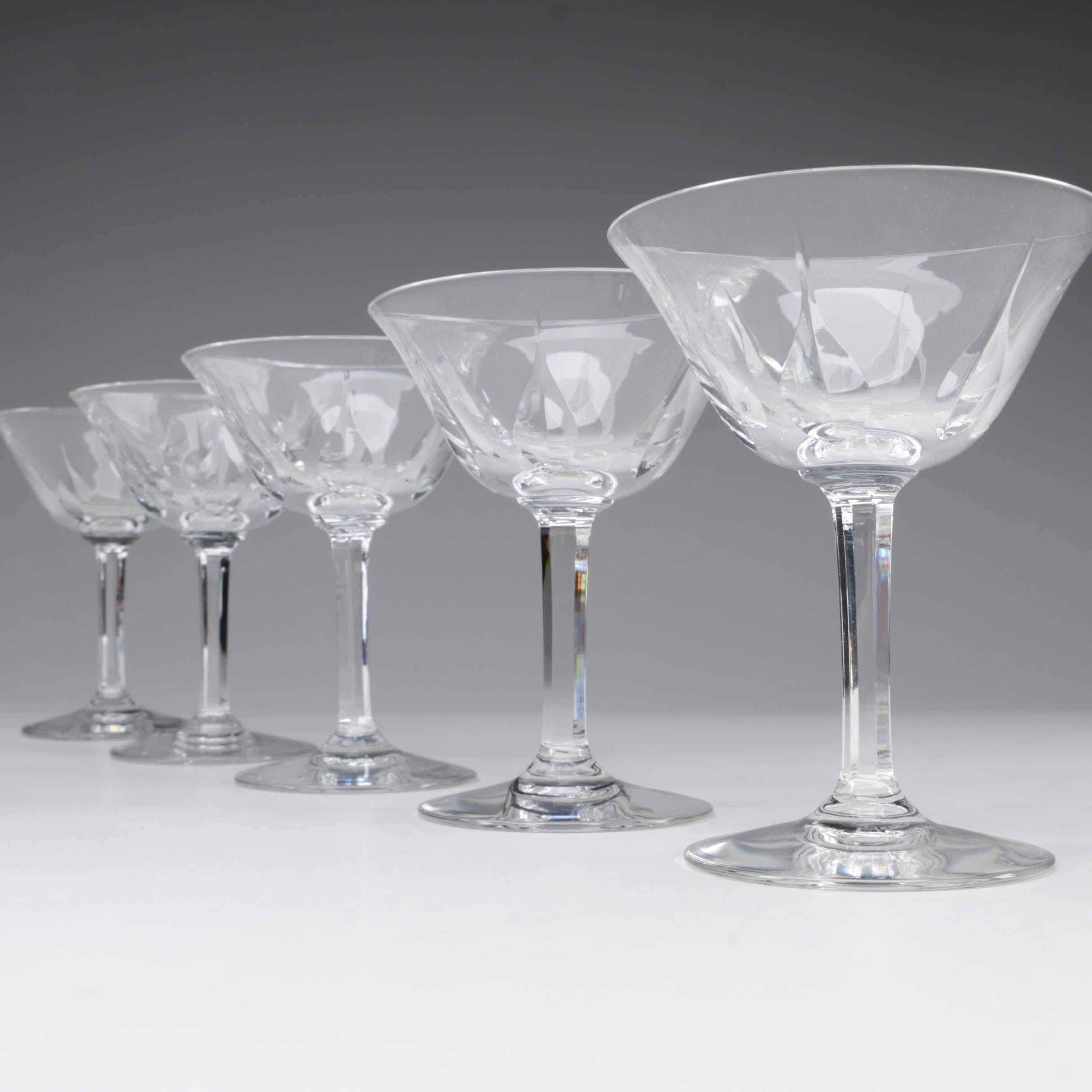 "St. Louis Crystal ""Cerdagne"" Continental Champagne Coupes"