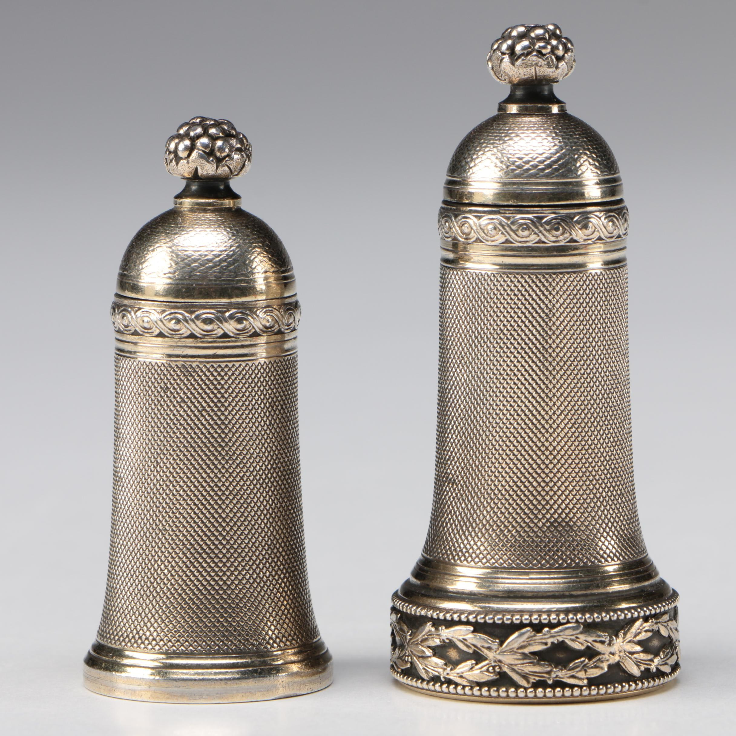 H. Fres & Cie French Sterling Silver Pipe Tampers, 1901 - 1930