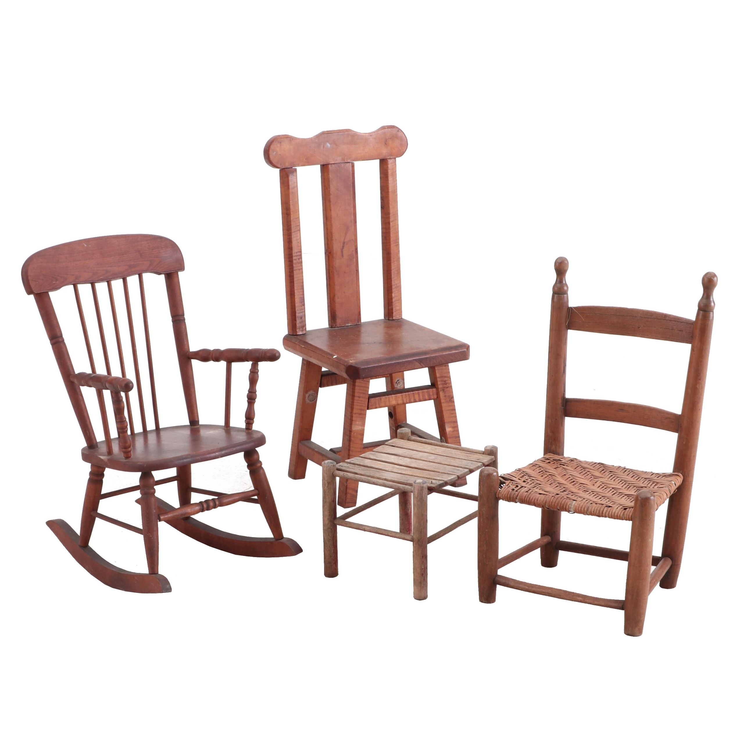 Vintage Children's' Chairs and Stool