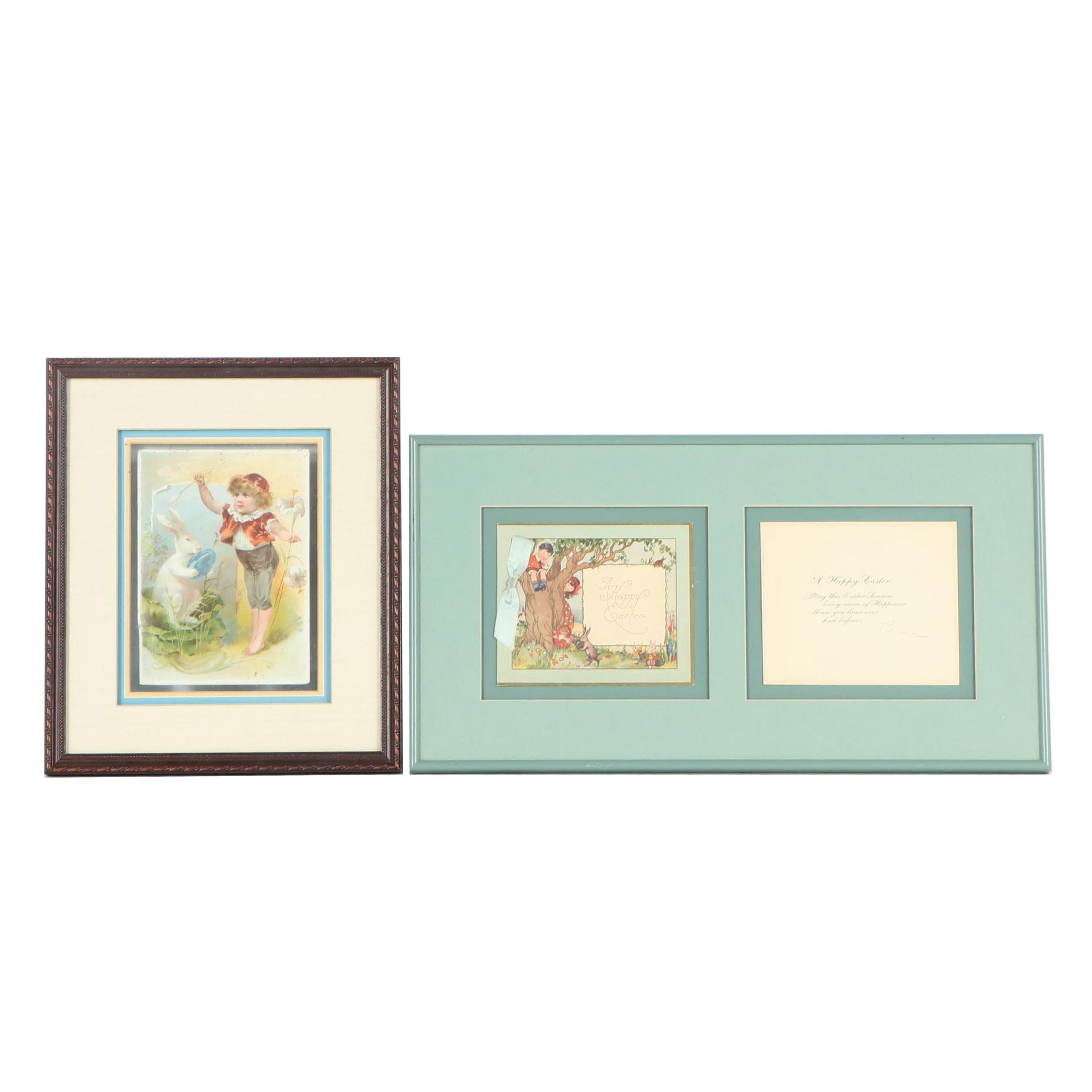 Framed Easter Cards, Late 19th Century