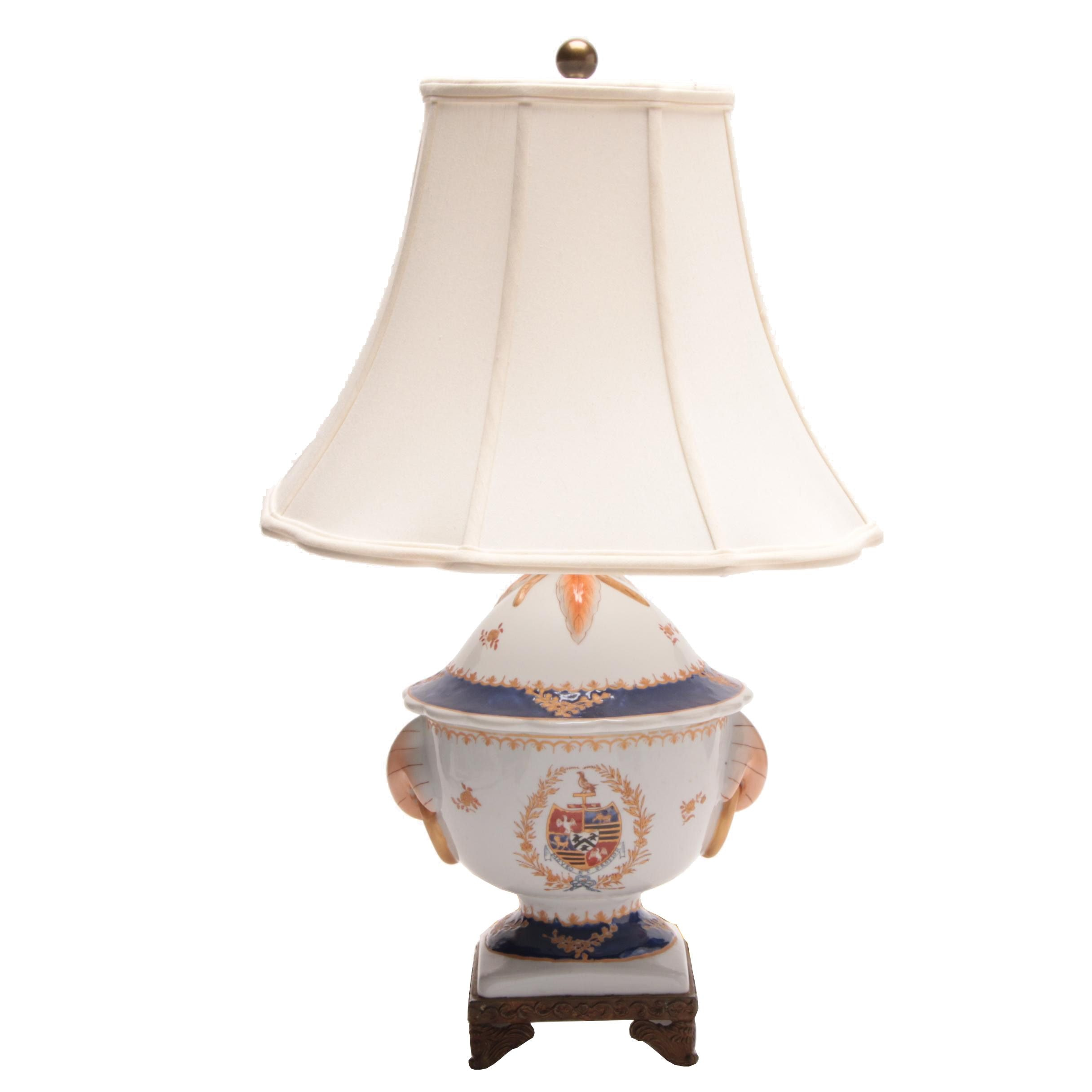 Currey & Company Armorial Shield Vase Lamp