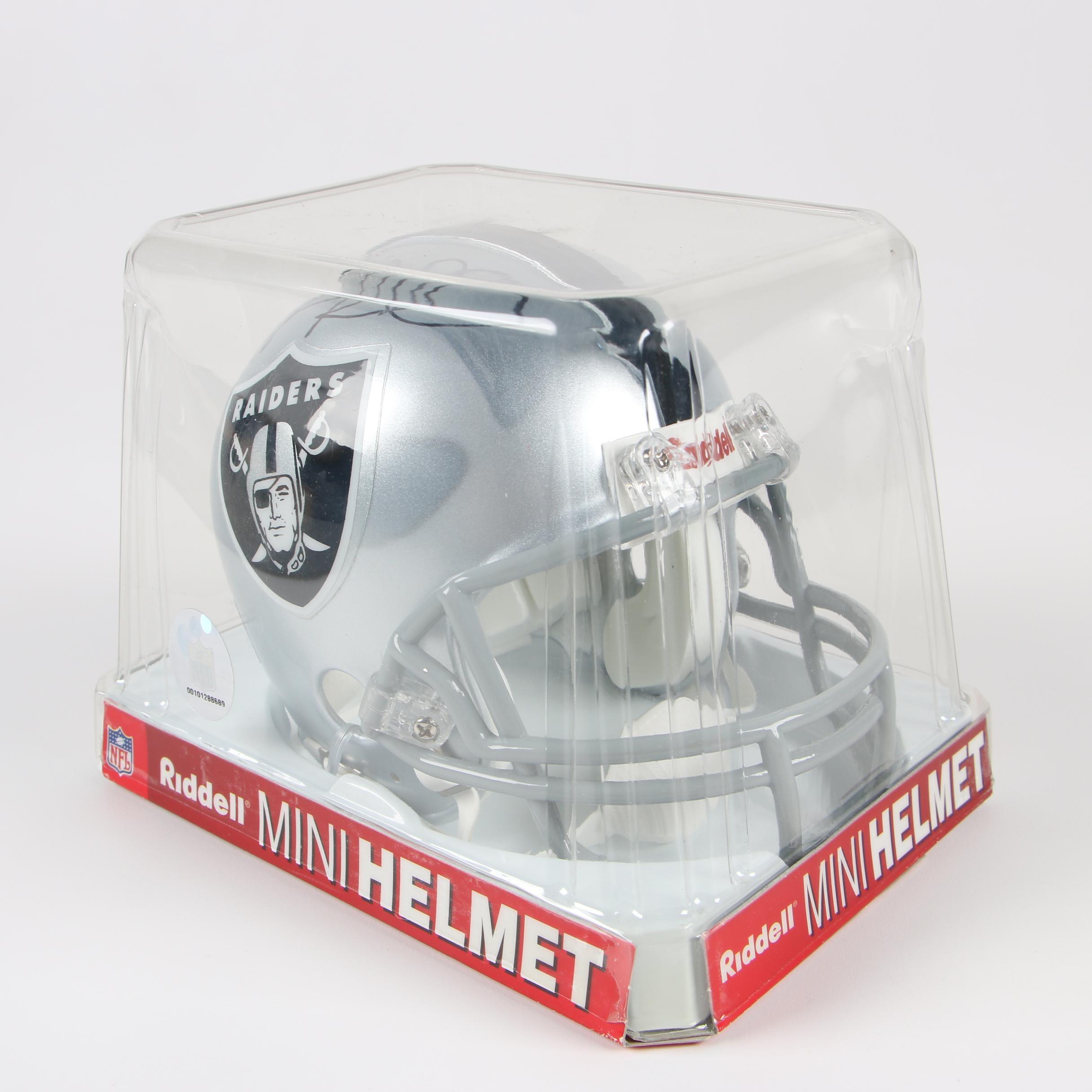 Oakland Raiders Signed Mini Helmet by Riddell