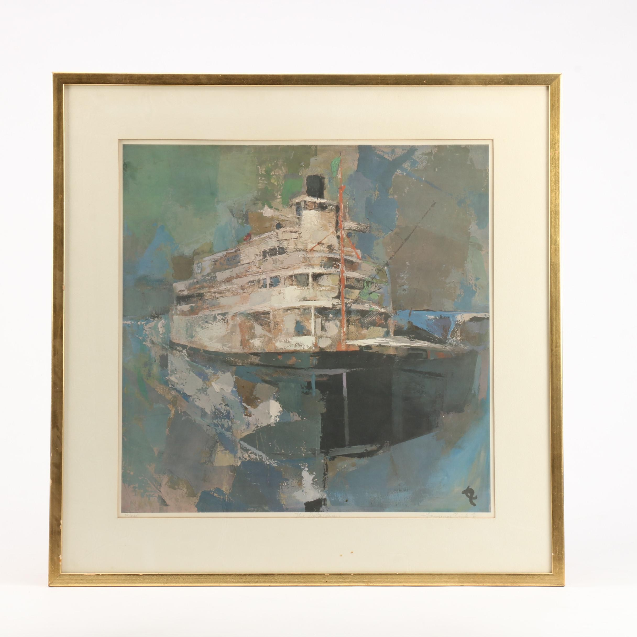 """Lawrence Zink Limited Edition Offset Lithograph """"The Delta Queen"""""""