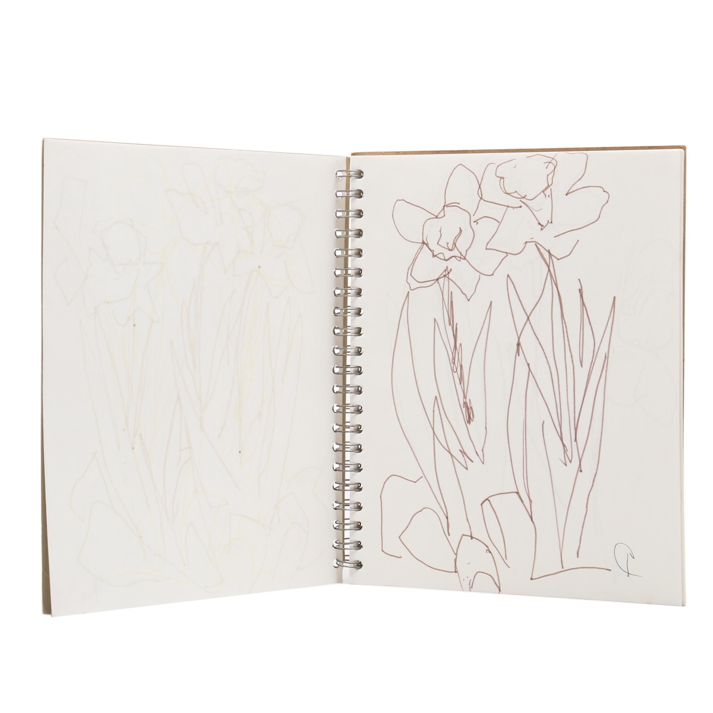 Paul Chidlaw Sketchbook of Floral Line Drawings