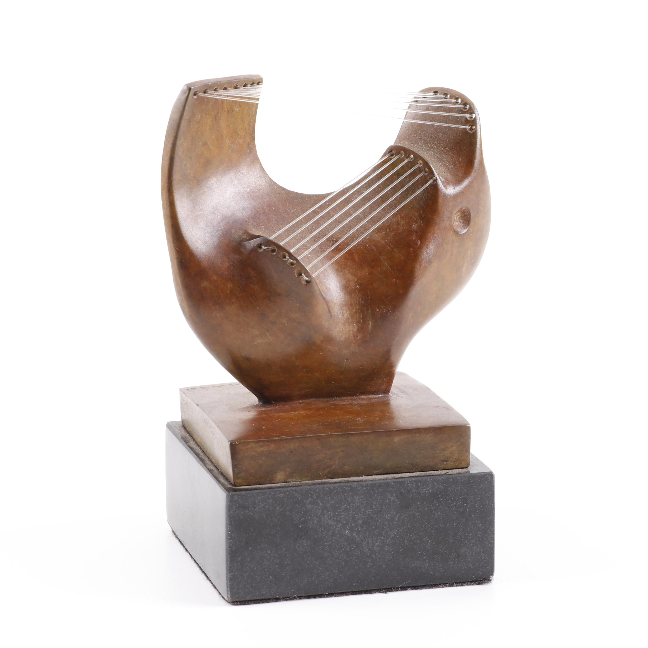 Abstract Bronze Sculpture in the Manner of Henry Moore