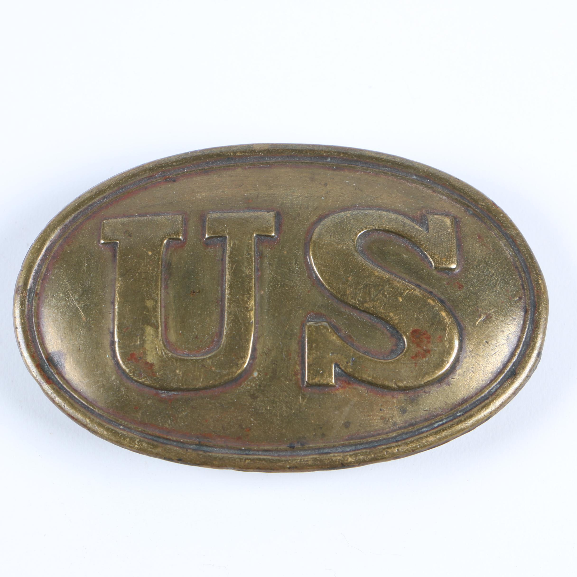 "Vintage Brass ""US"" Belt Buckle"