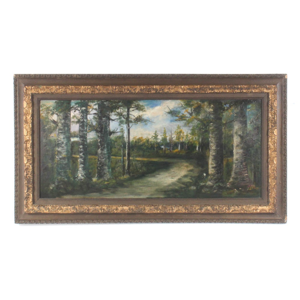 Forested Landscape Oil Painting