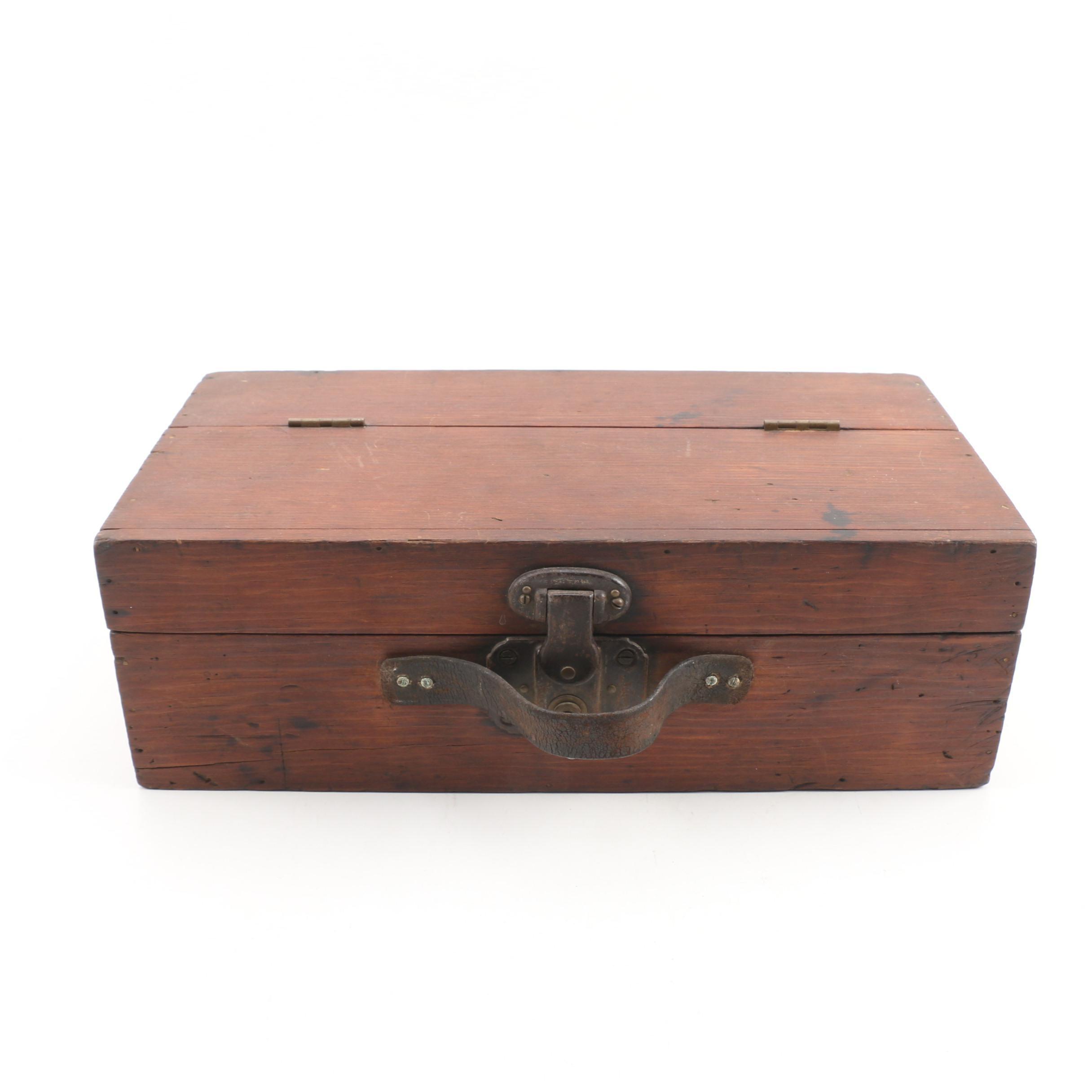 Hard Pine Tool Box, Early 20th Century