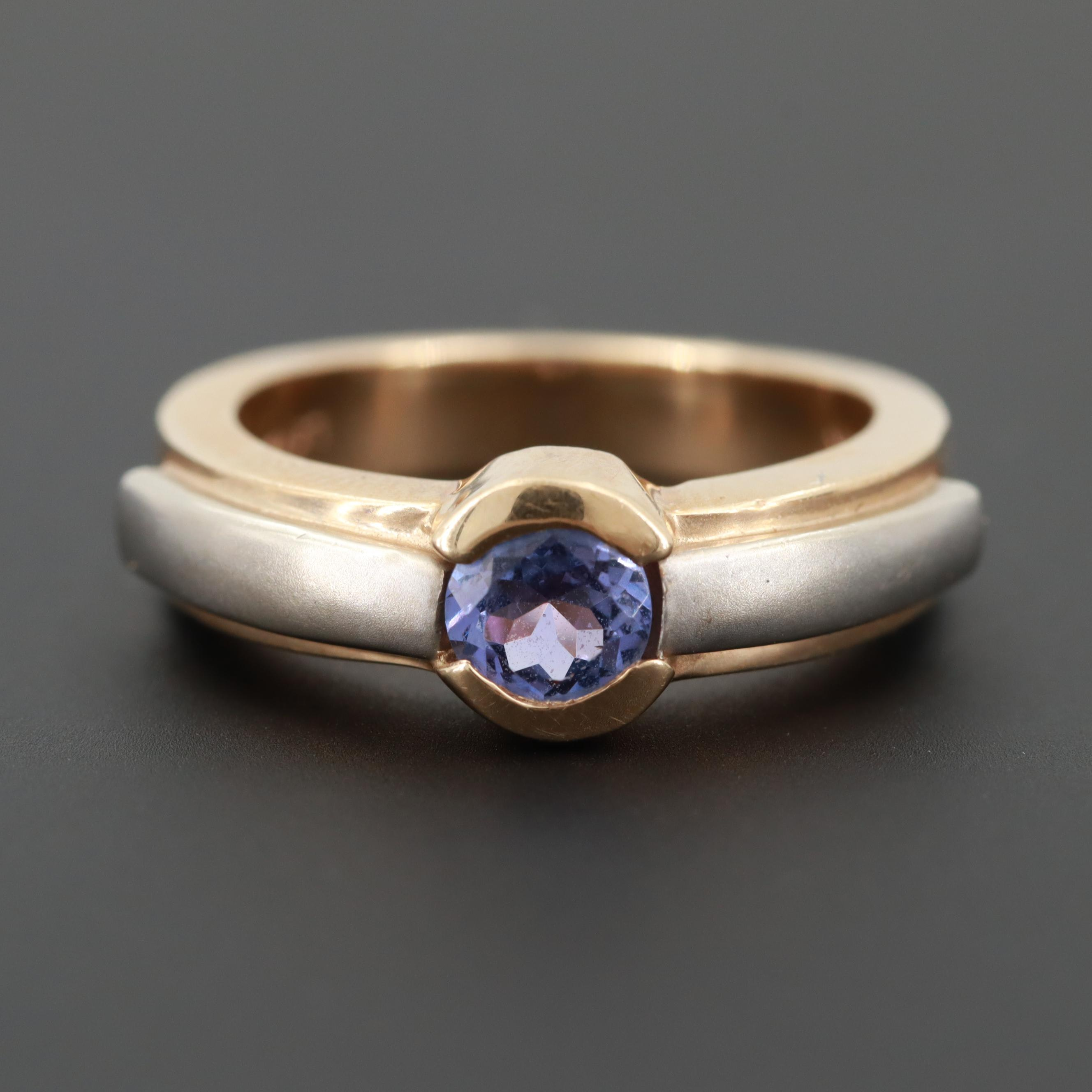Le Vian 14K Yellow Gold Tanzanite Ring with White Gold Accent