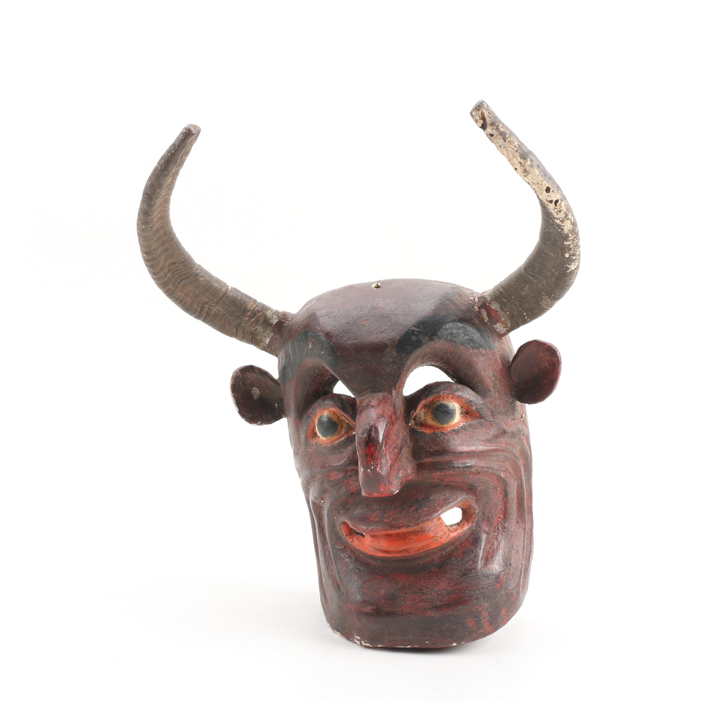 Mexican Painted Devil Mask Wall Decor
