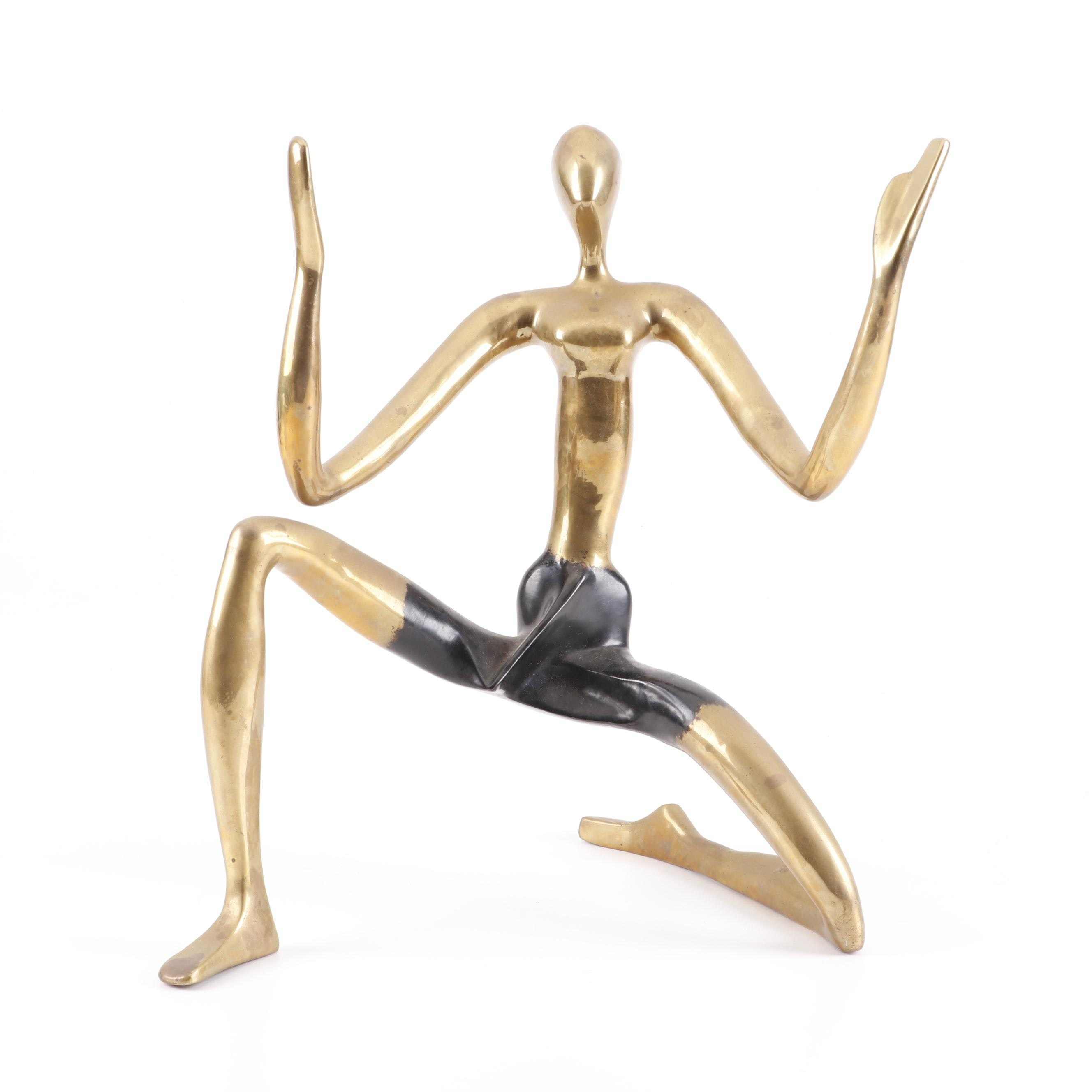 Vintage Surawongse Brass Figural Sculpture
