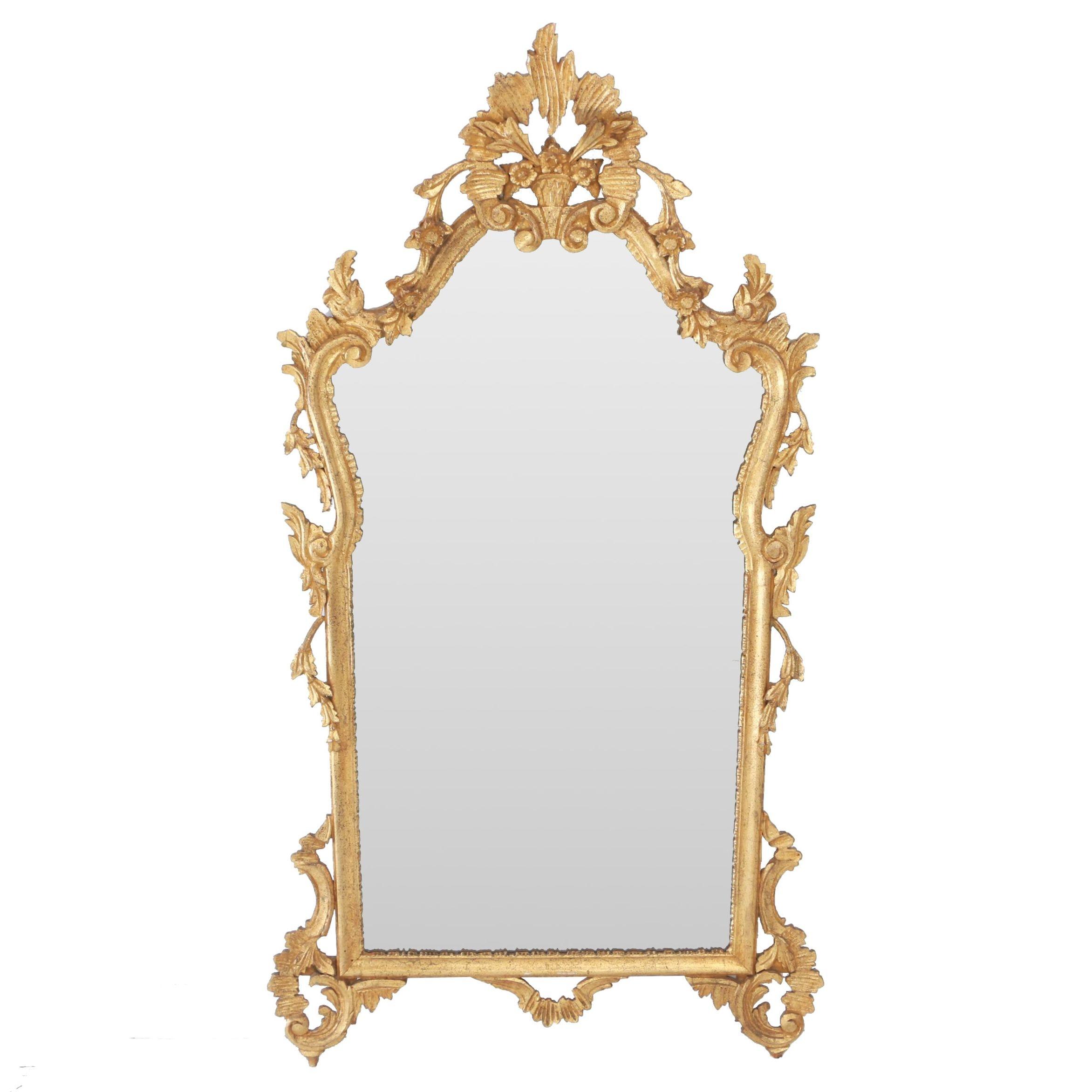 Italian Rococo Style Giltwood Mirror, 20th Century