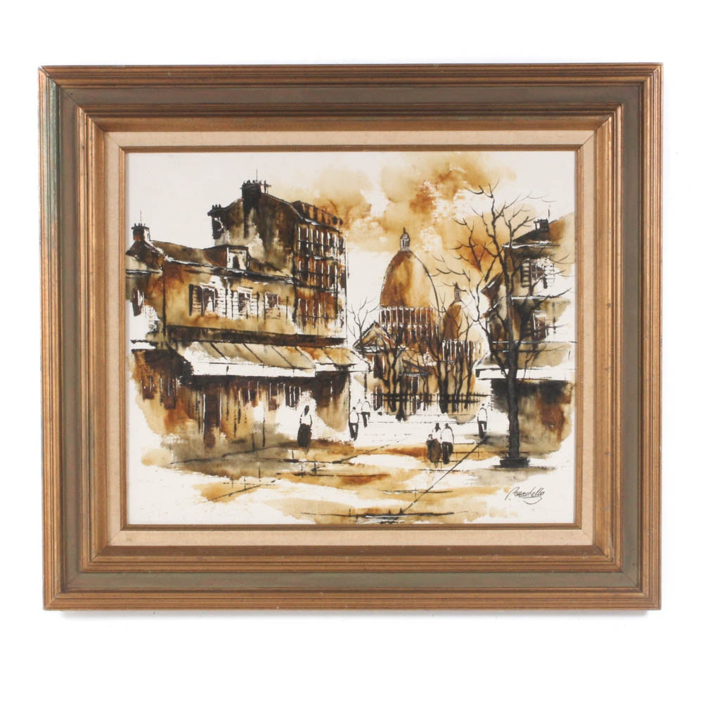 Adriano Marchello Mid-Century Oil Painting