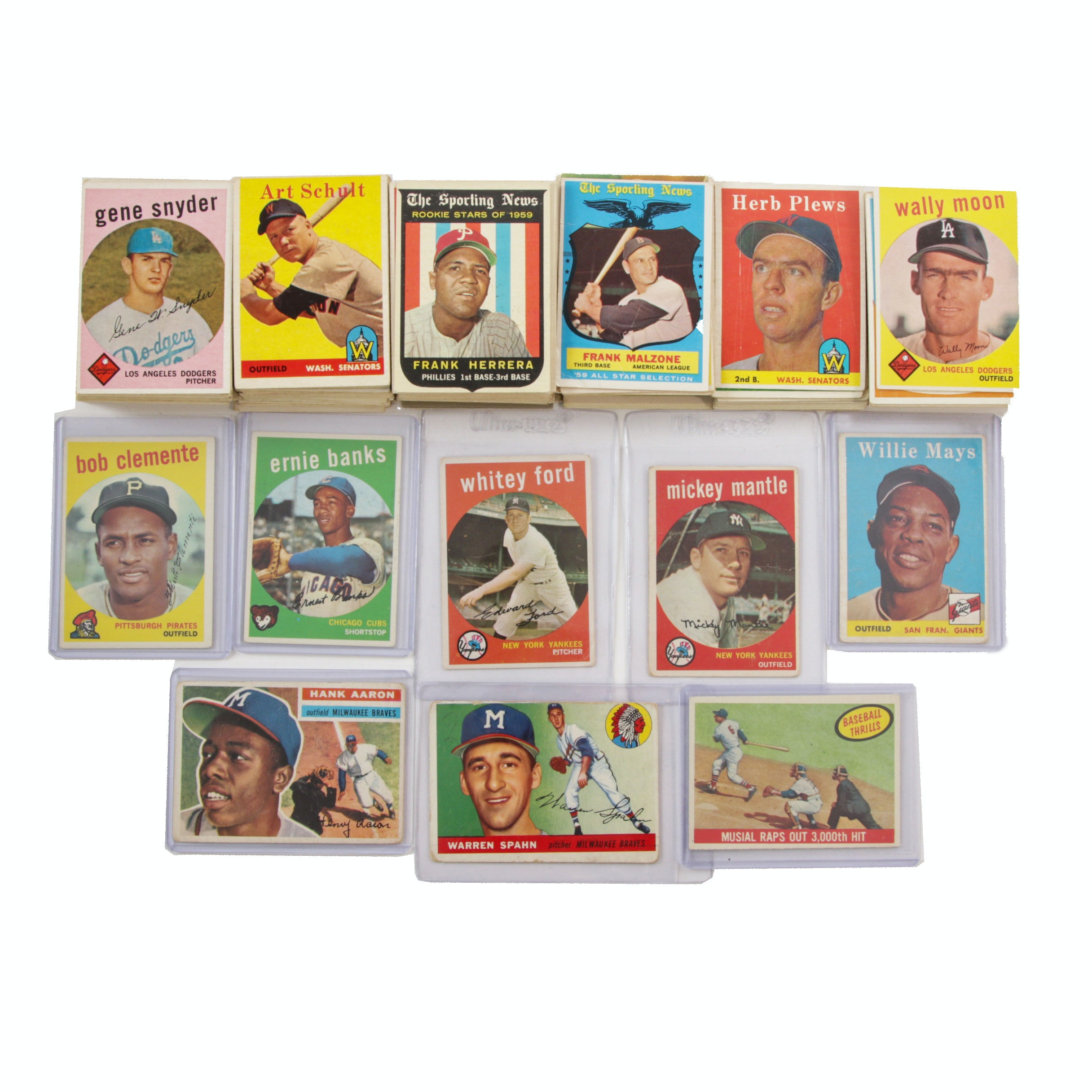 Vintage Baseball Cards from 1950s to 1961 with 1958 Willie Mays #5