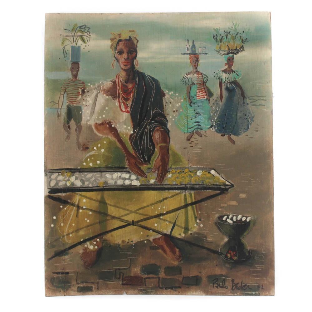 Paulo Becker Caribbean Oil Painting