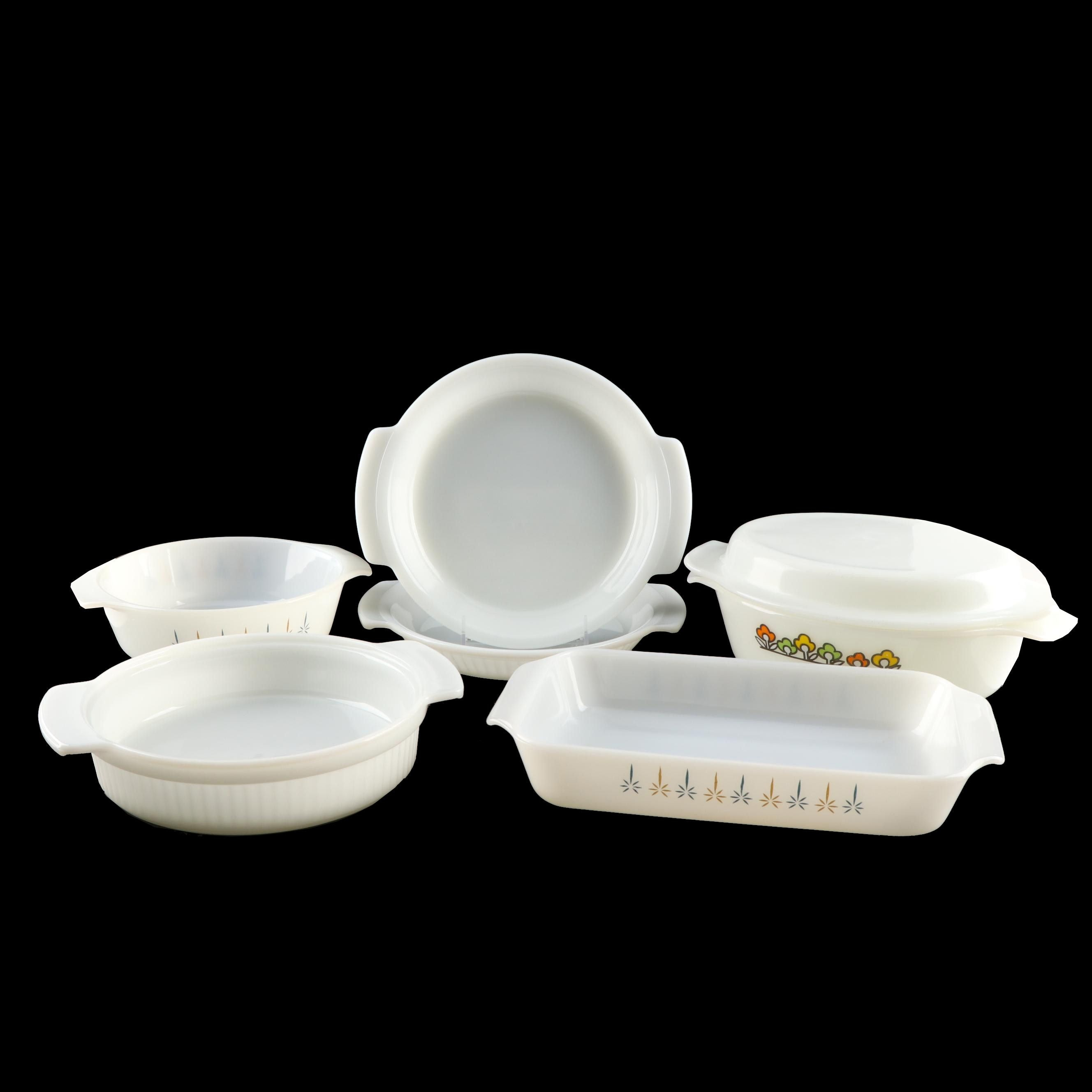Fire King Milk Glass Bakeware, Mid-Century