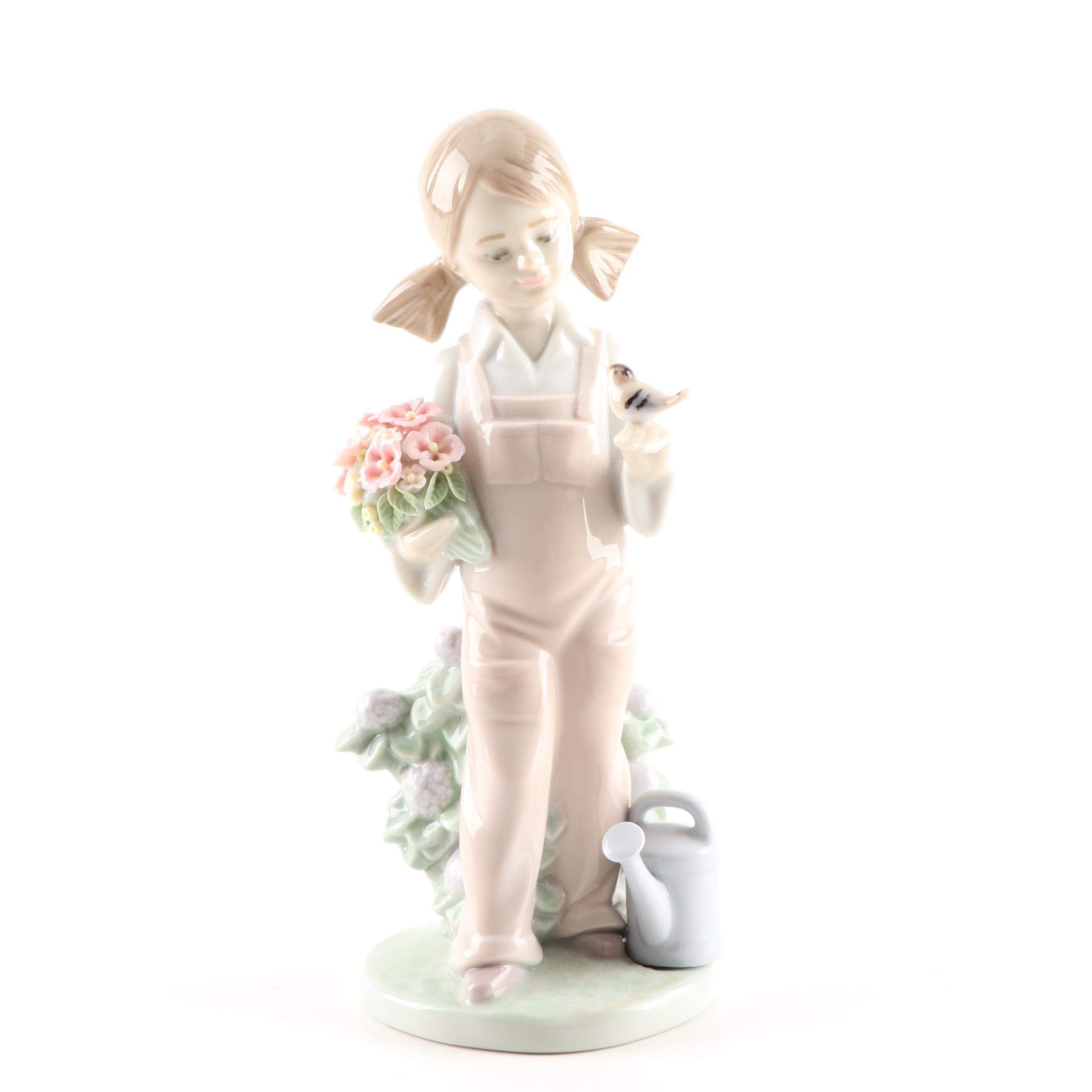 """Lladró """"Spring"""" Porcelain Figurine, 1983"""