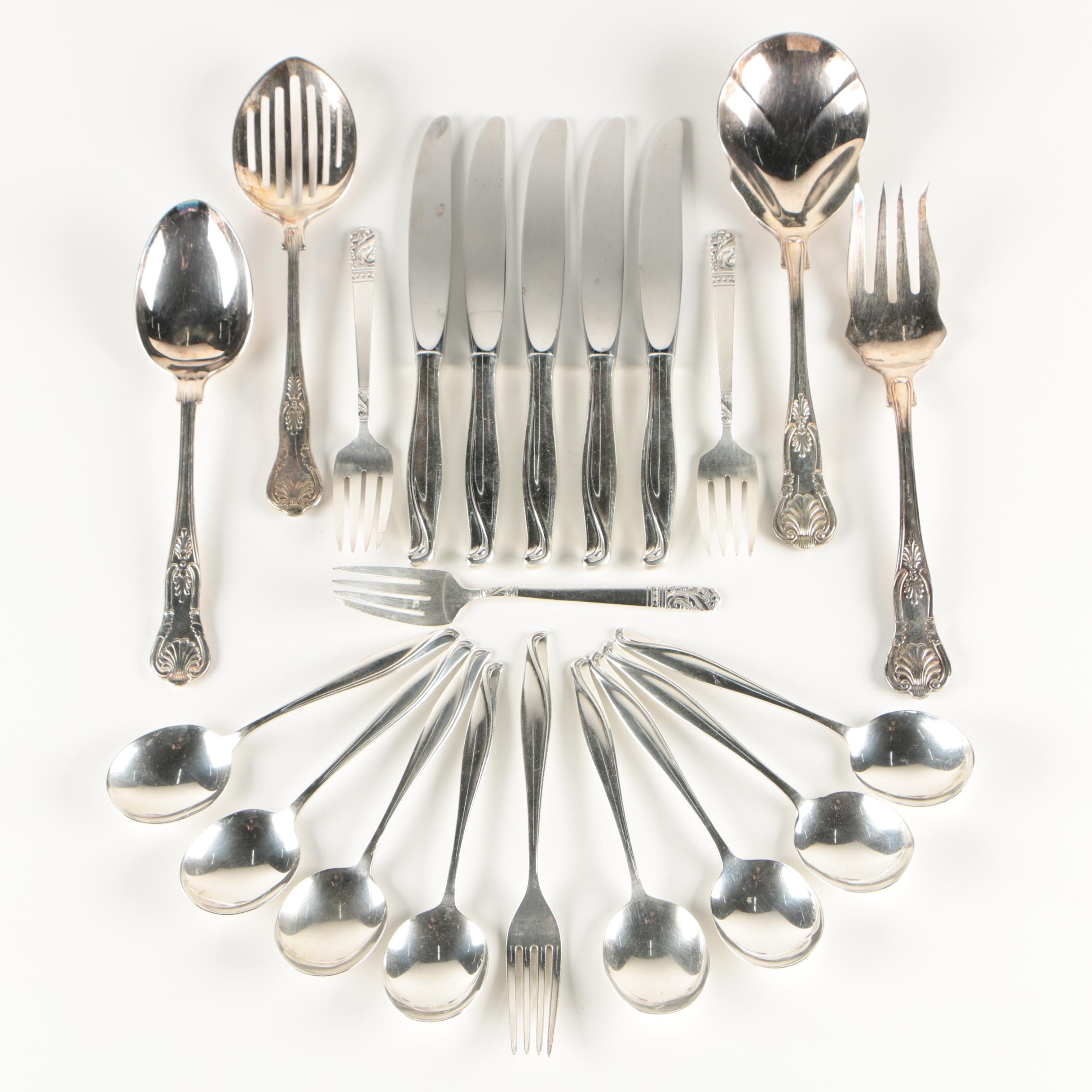 "Alvin ""Spring Bud"" Sterling Flatware and Other Flatware, Mid-Century"