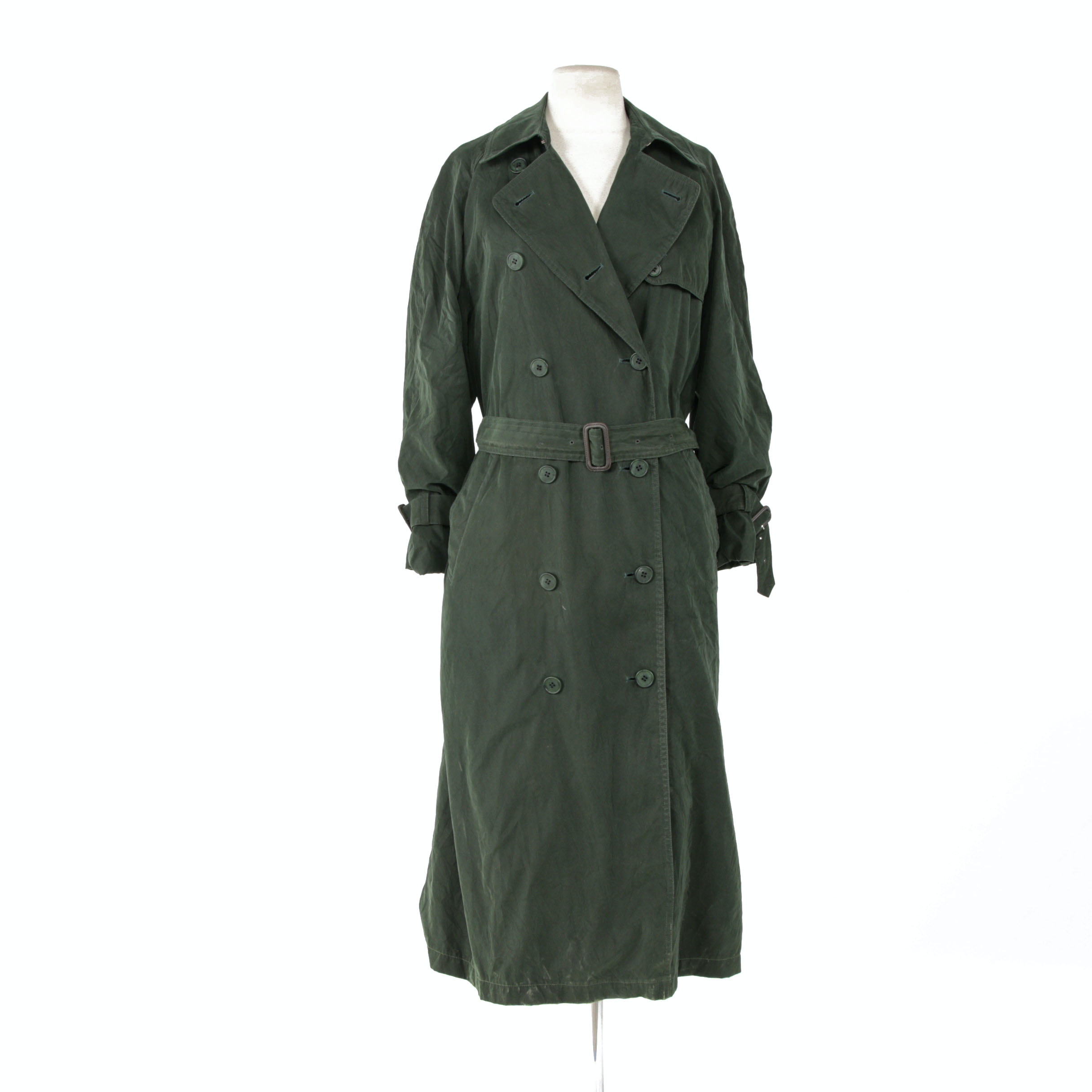 Women's Burberry of London Double-Breasted Trench Coat with Removable Wool Liner