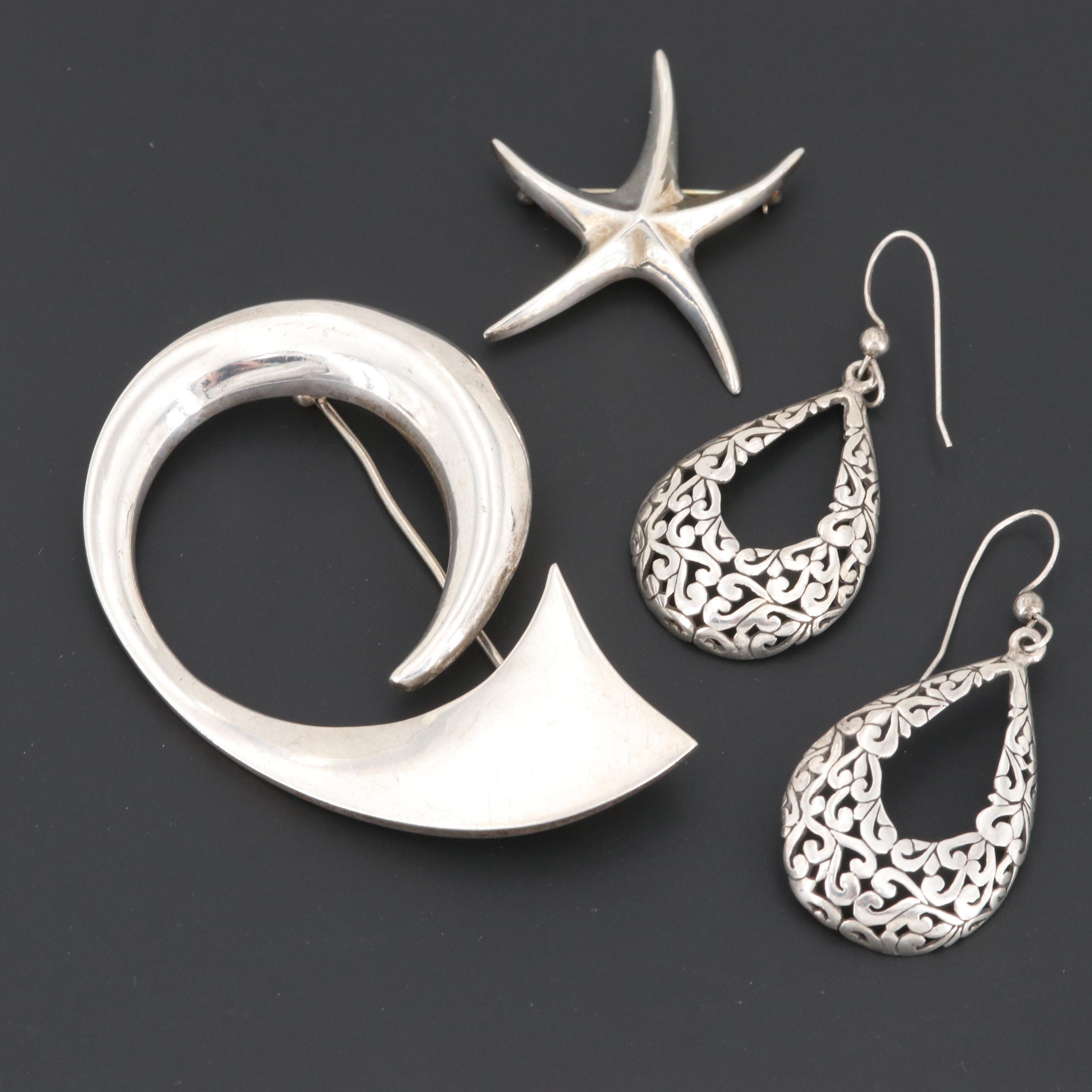 Sterling Silver Pendants and Earrings