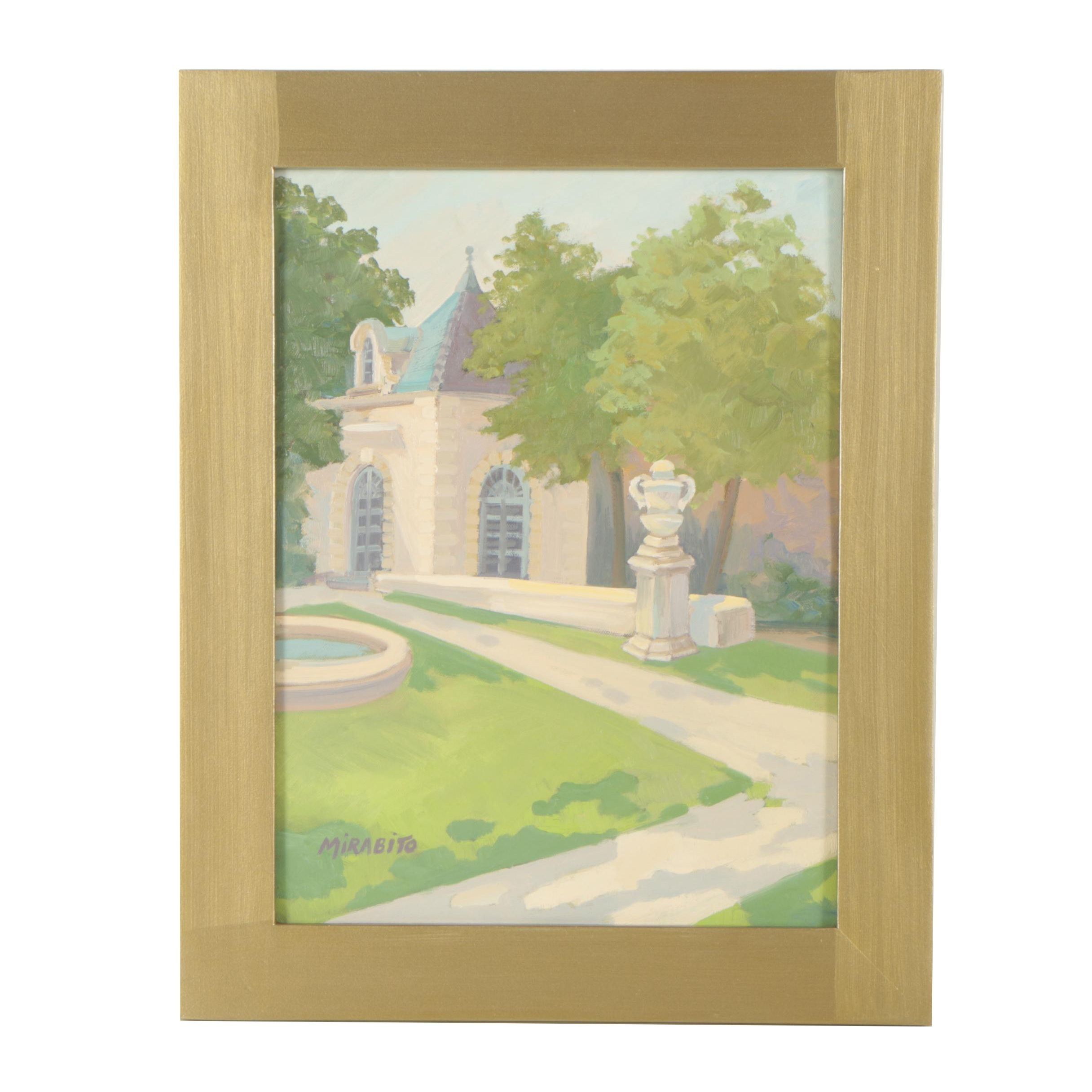 """Mary Mirabito Oil Painting """"Le Pavillon de Vendome"""""""