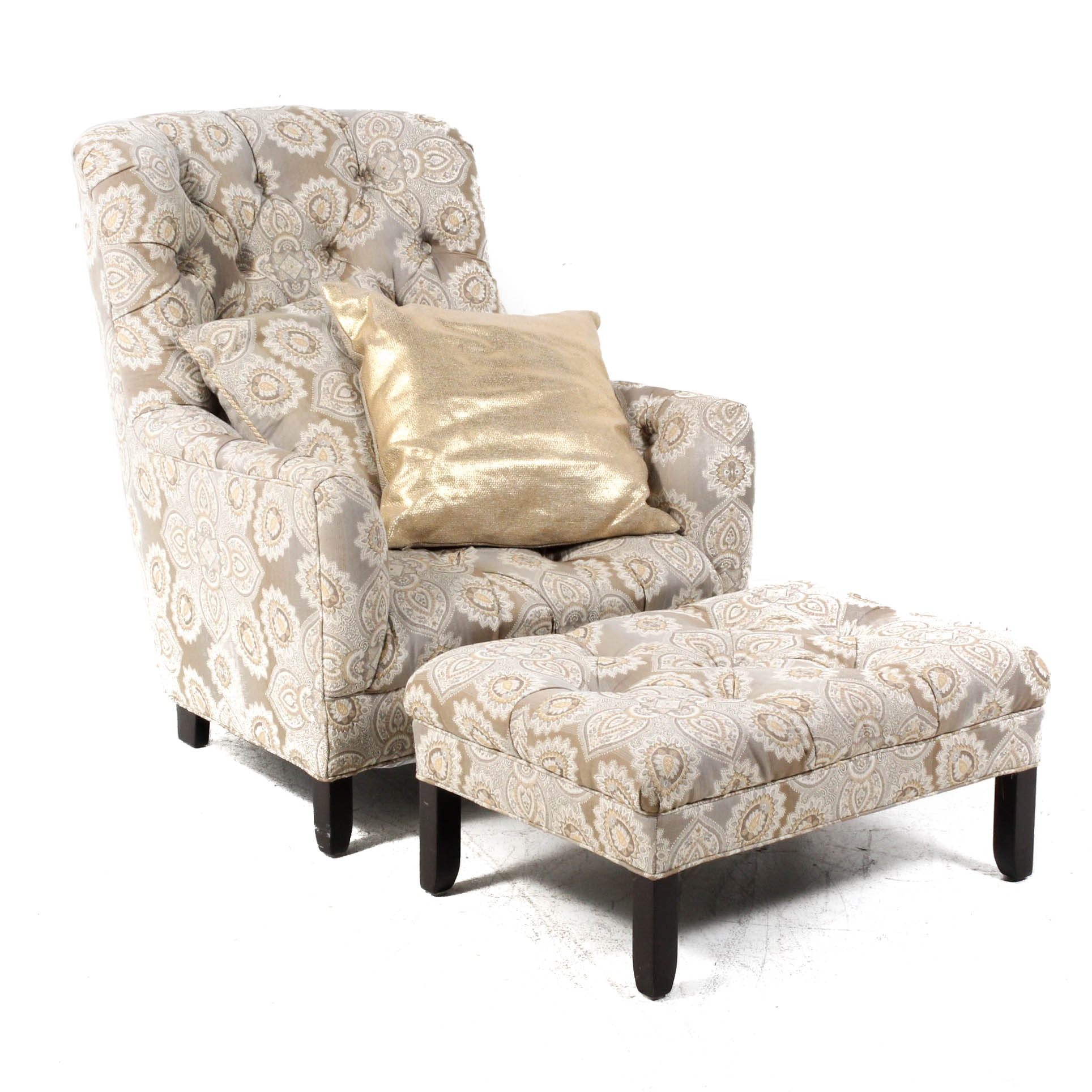 Cambridge Collection Armchair With Ottoman
