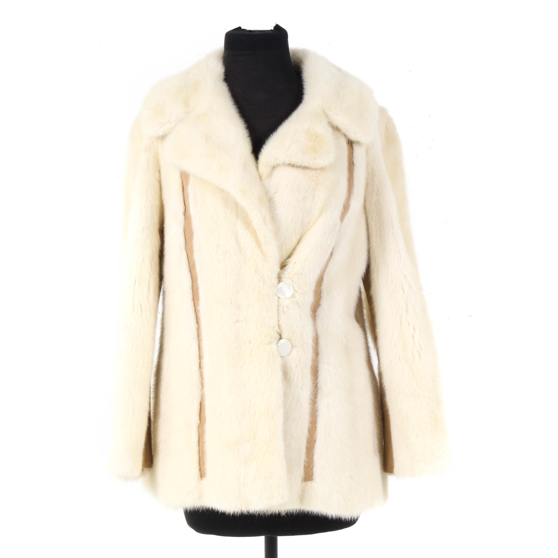 André Originals Mink Fur and Suede Driving Coat