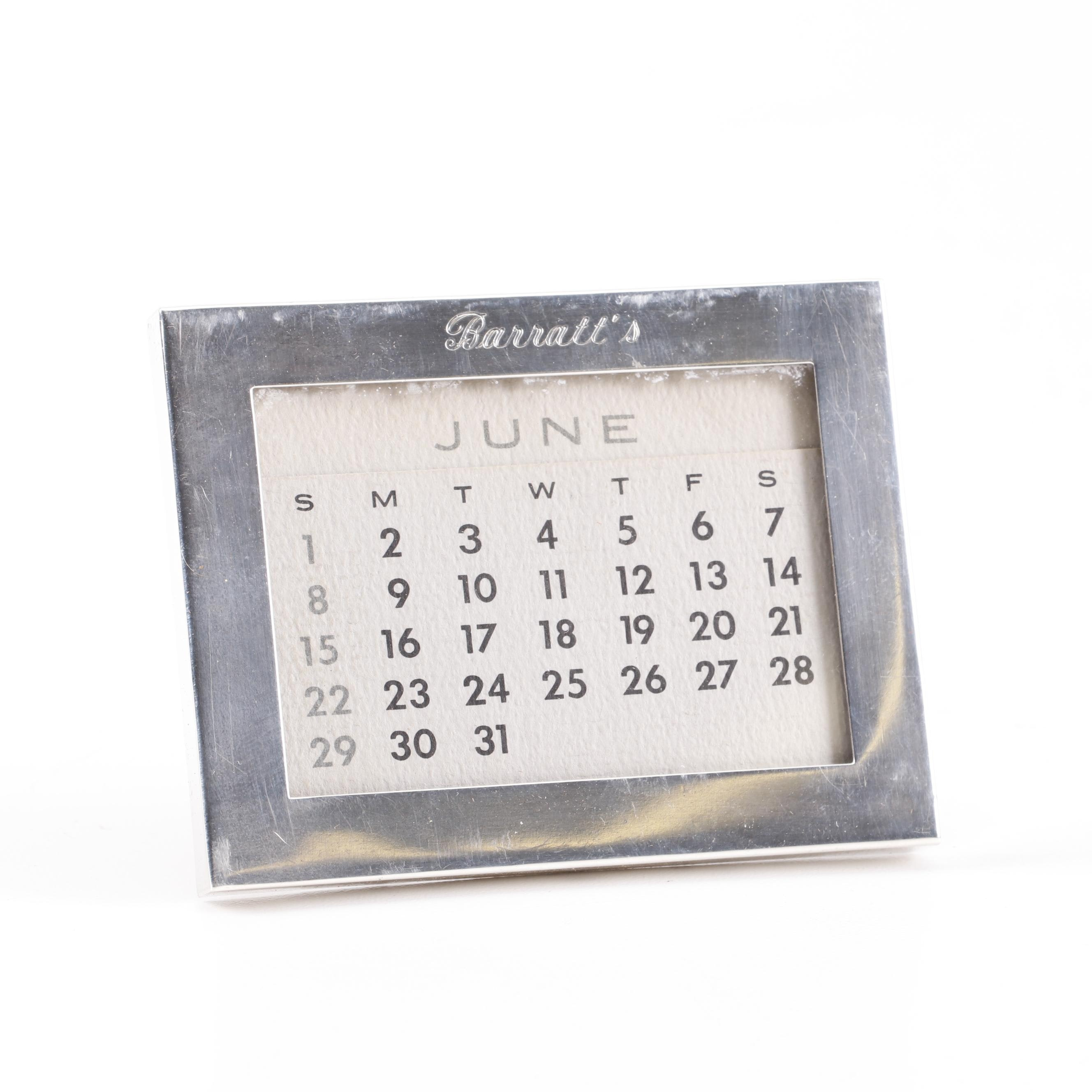 Tiffany & Co. Sterling Silver Frame with Calendar Insert