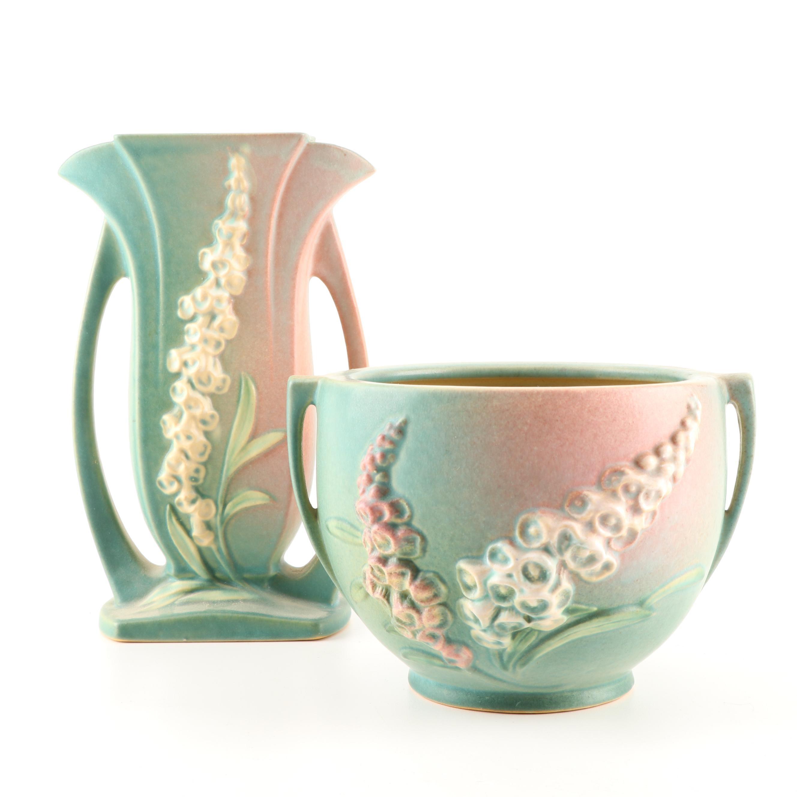 "Roseville Pottery ""Foxglove"" Vases, circa 1942"