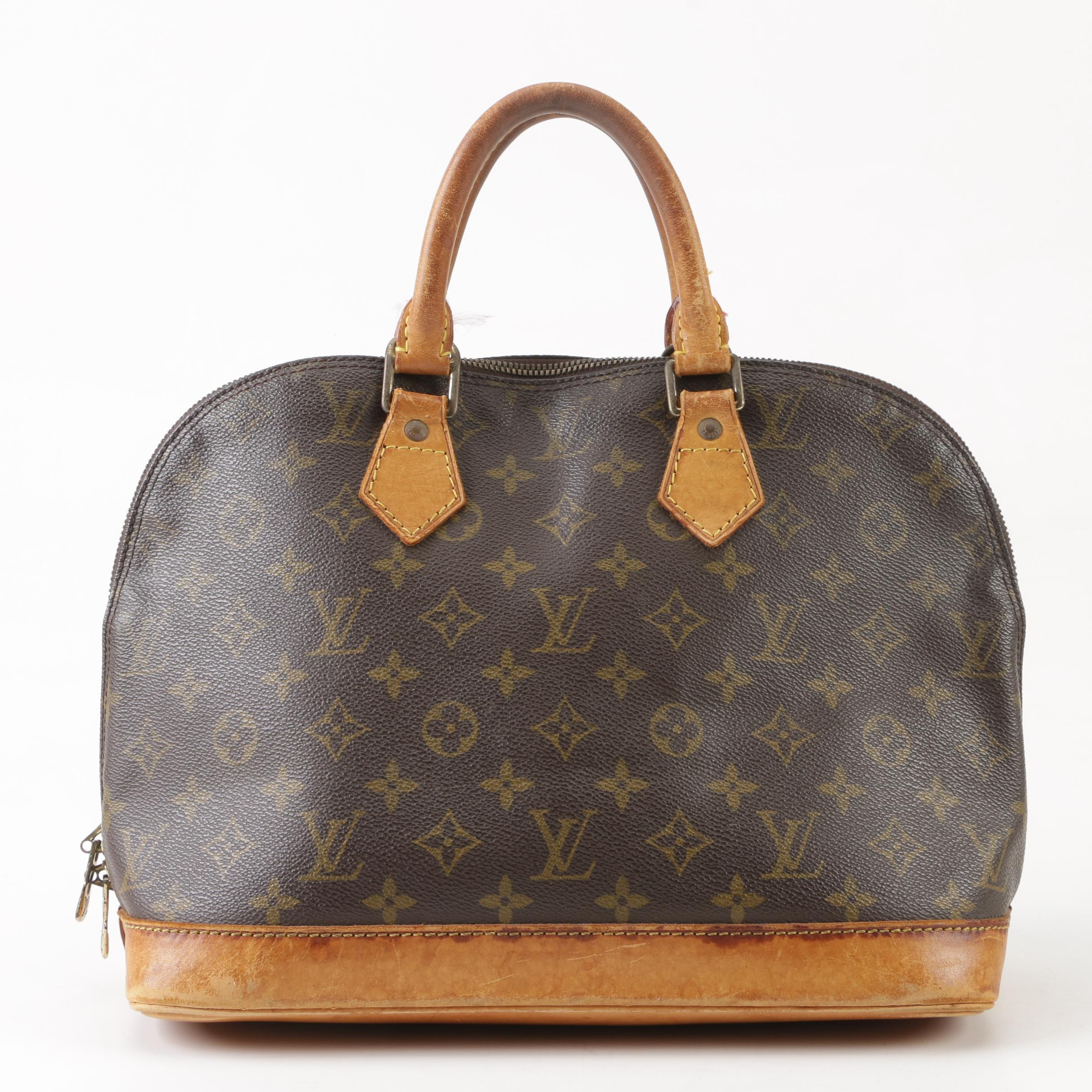 Louis Vuitton Paris Alma PM Monogram Canvas Handbag, 1995