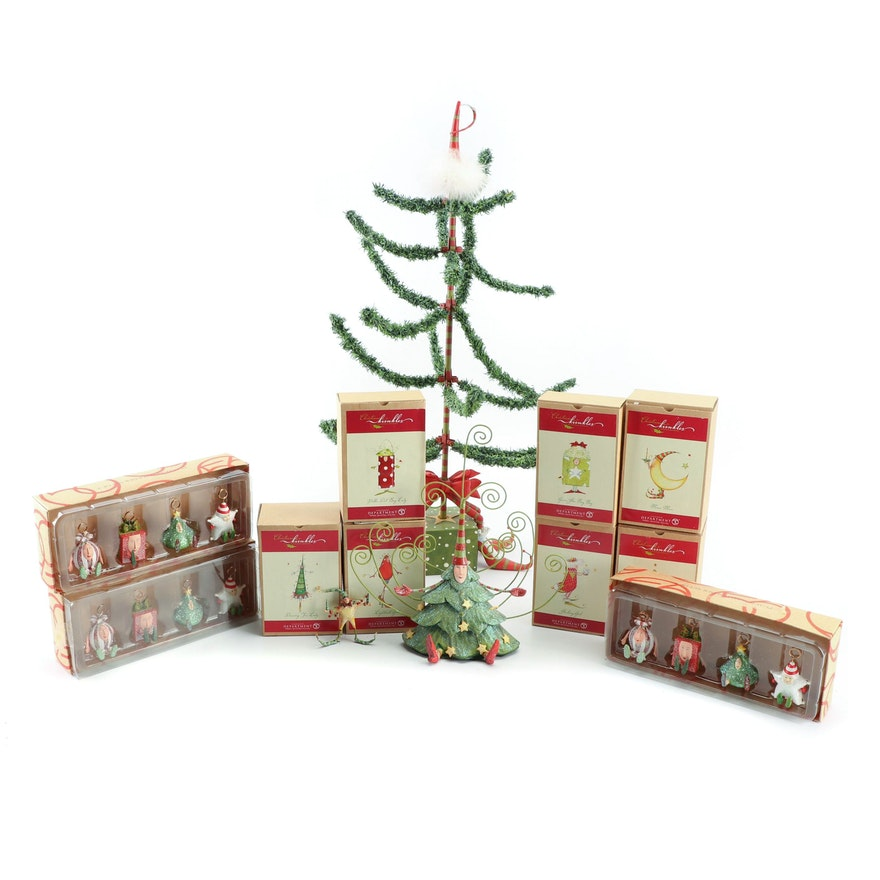 Department 56 Christmas Tree.Department 56 Christmas Decor Including Christmas Krinkles Ornaments And Tree