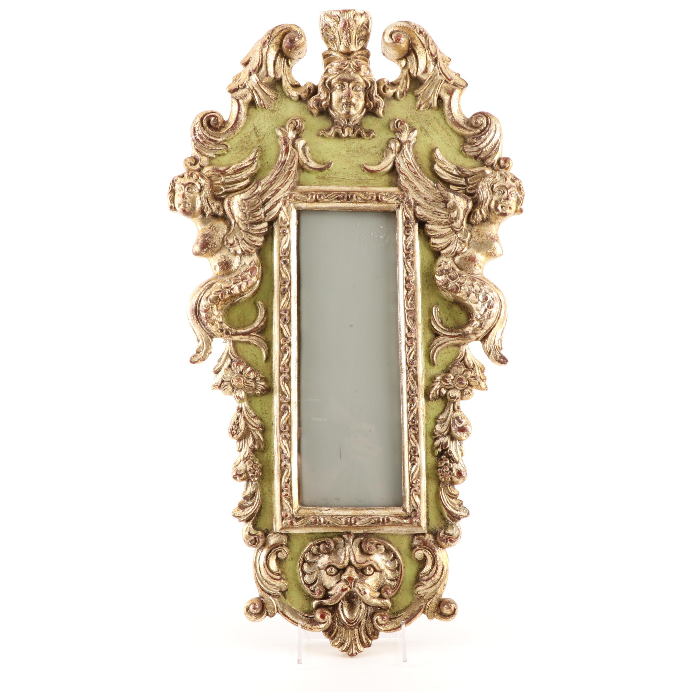 Rococo Style Carved Gilded Wood Wall Picture Frame, 20th Century