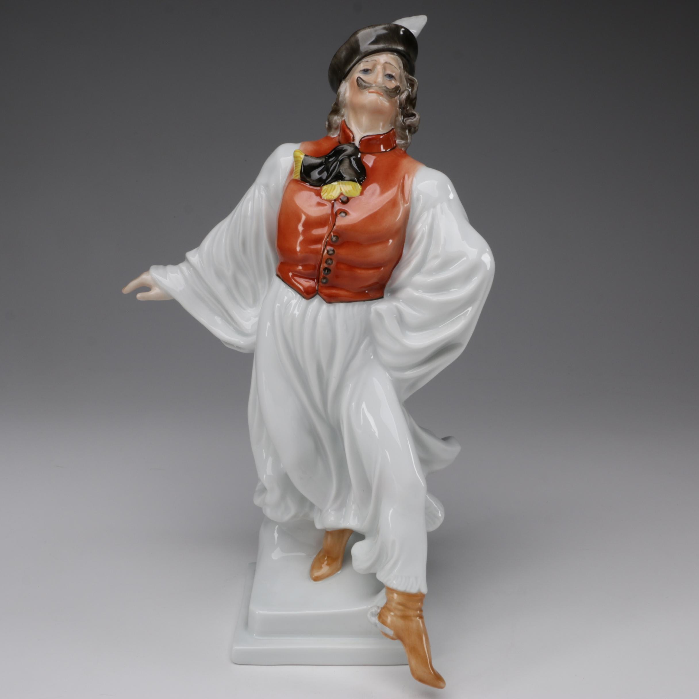 "Herend ""Dancing Man"" Porcelain Figurine"