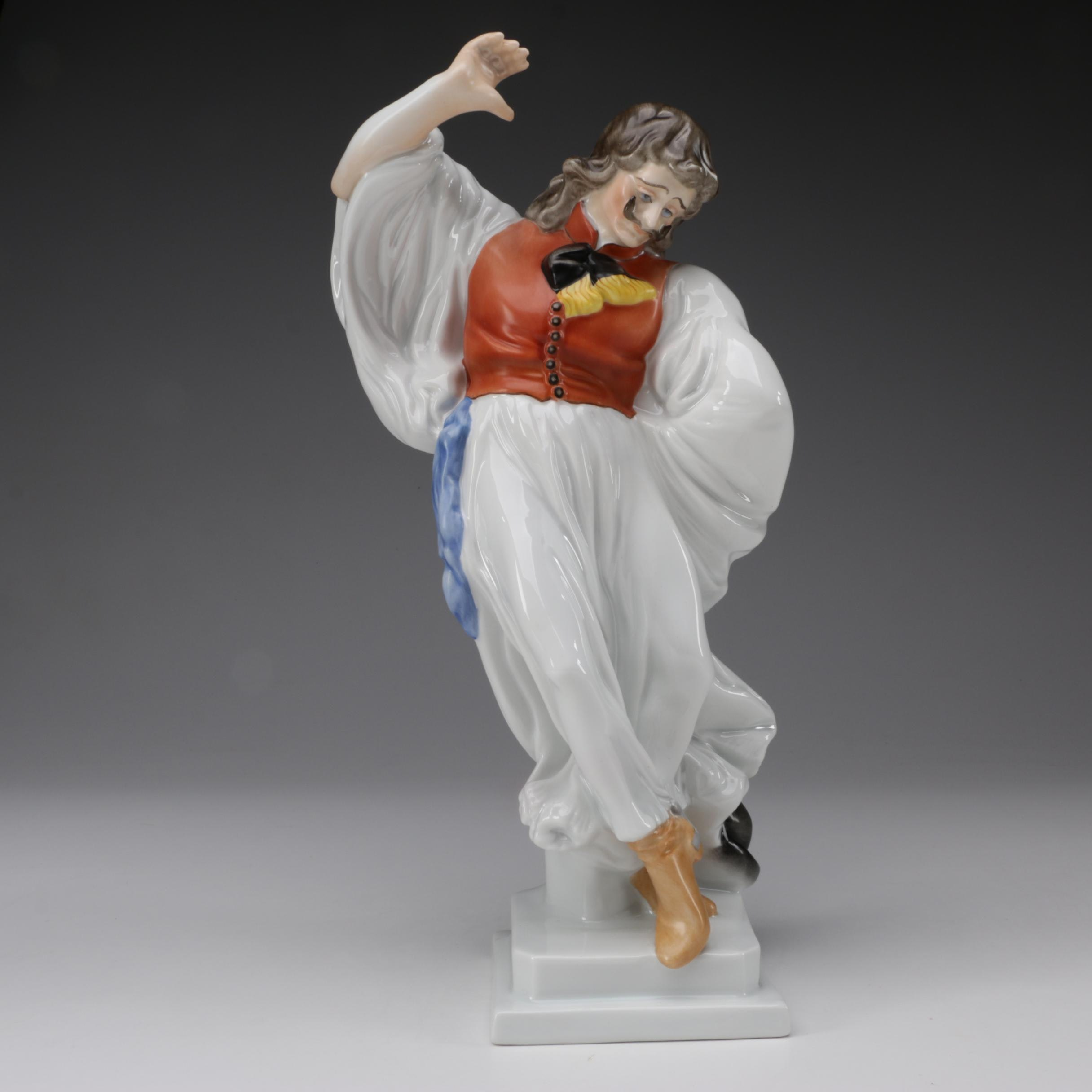 "Herend ""Hungary Lad Dancing"" Porcelain Figurine"