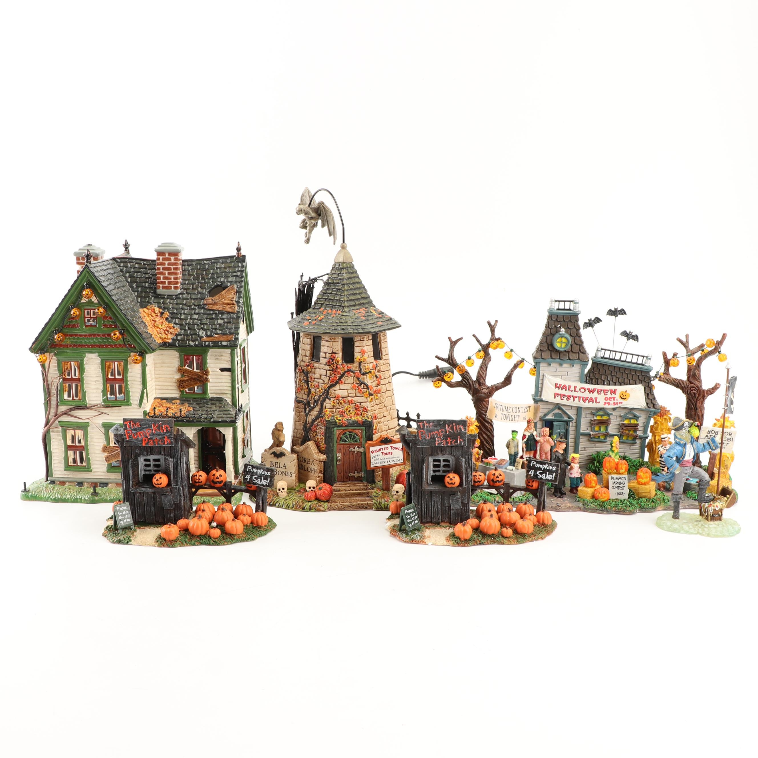 "Department 56 and Lemax ""Spooky Town"" Buildings and Accessories"