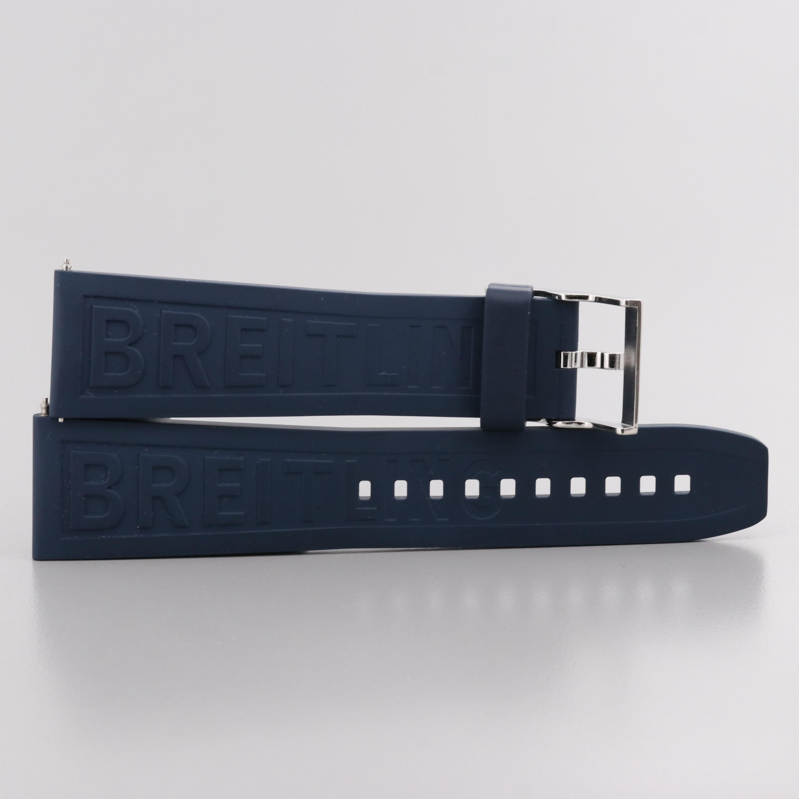 Breitling Diver Pro III Navy Blue Rubber Watch Strap
