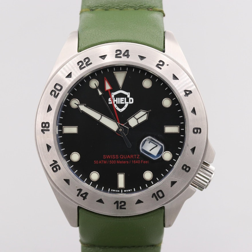 Sheild Caruso GMT Quartz Wristwatch