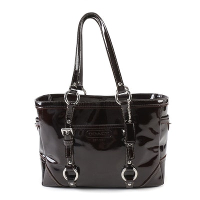 7fe2dcafa15 Coach Dark Brown Patent Leather Gallery Tote. Pickup Available EBTH  Cincinnati - Blue Ash