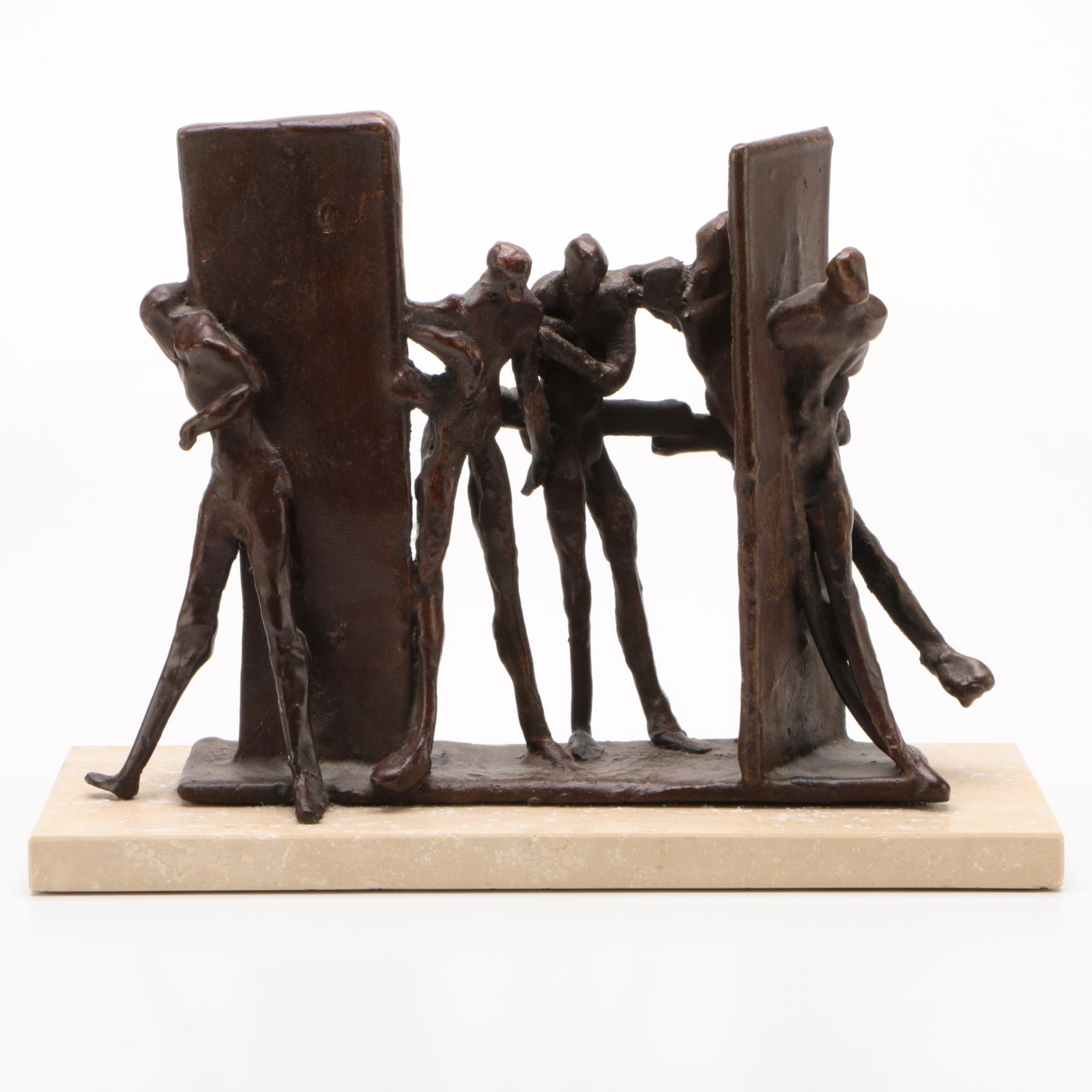 "Bronze Sculpture after John Pappas ""Five Standing Nudes,"" 1970"