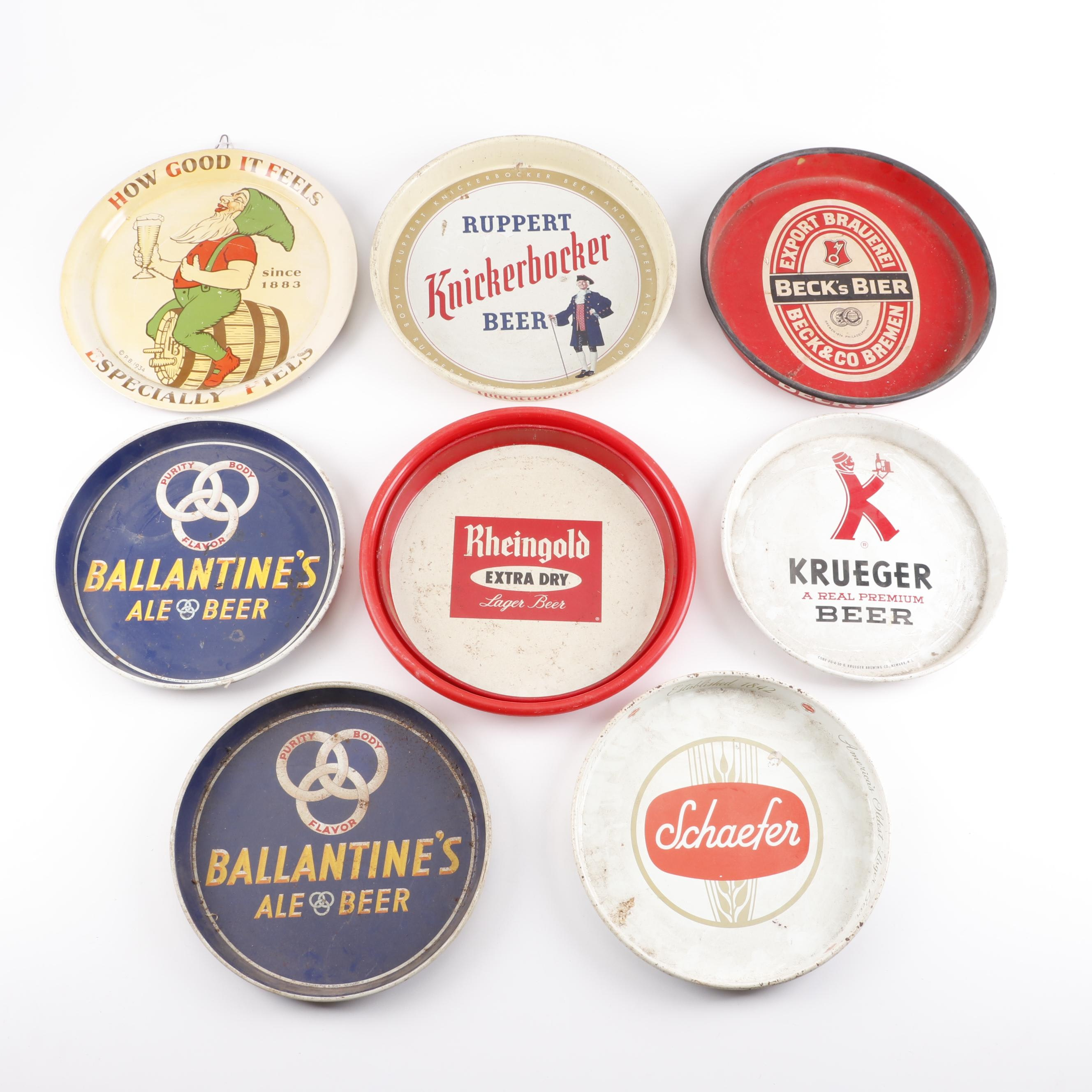 Vintage Beer Company Advertising Trays