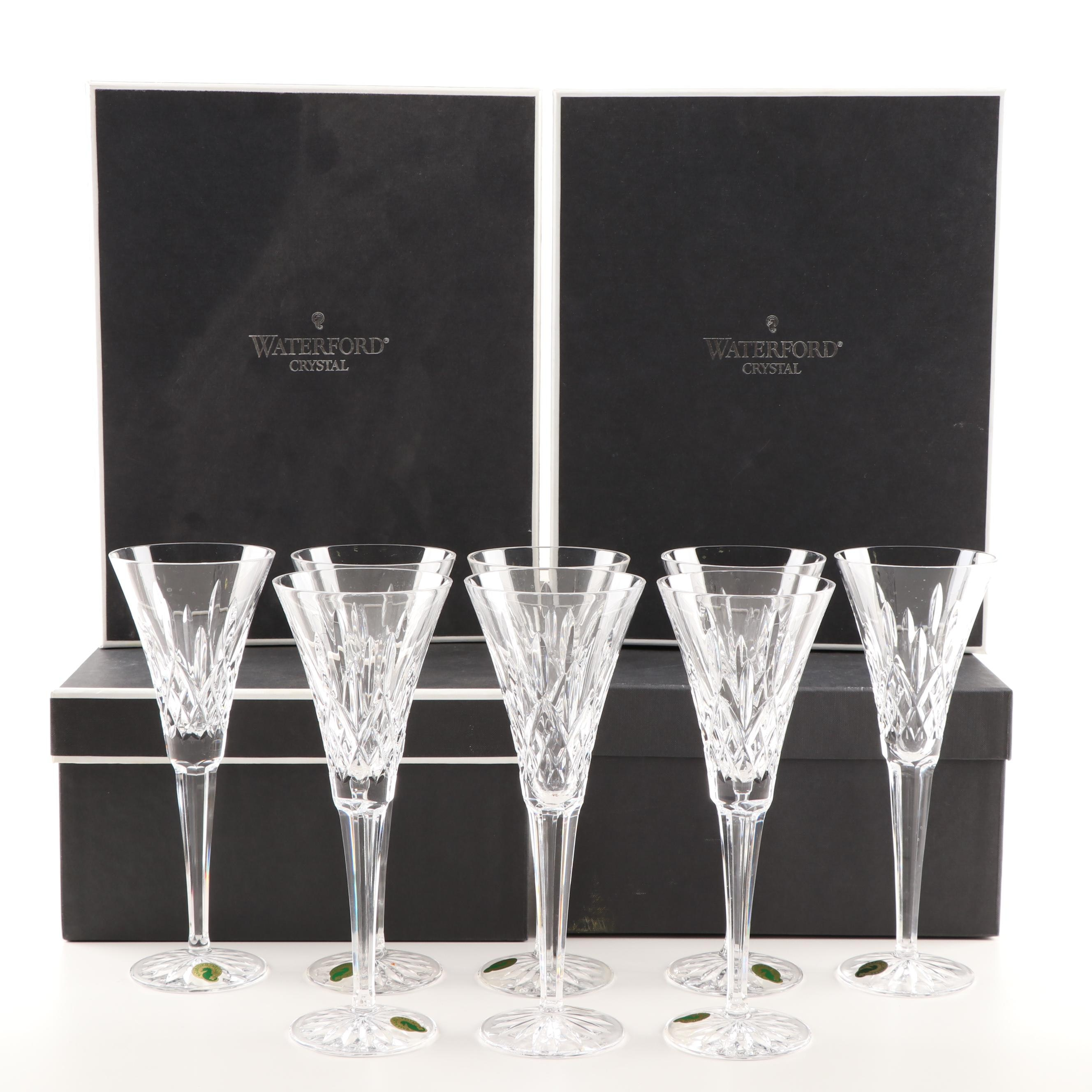 "Waterford ""Lismore"" Crystal Champagne Toasting Flutes"