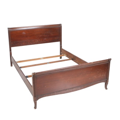 Ethan Allen Medallion Collection Queen Sleigh Bed Ebth