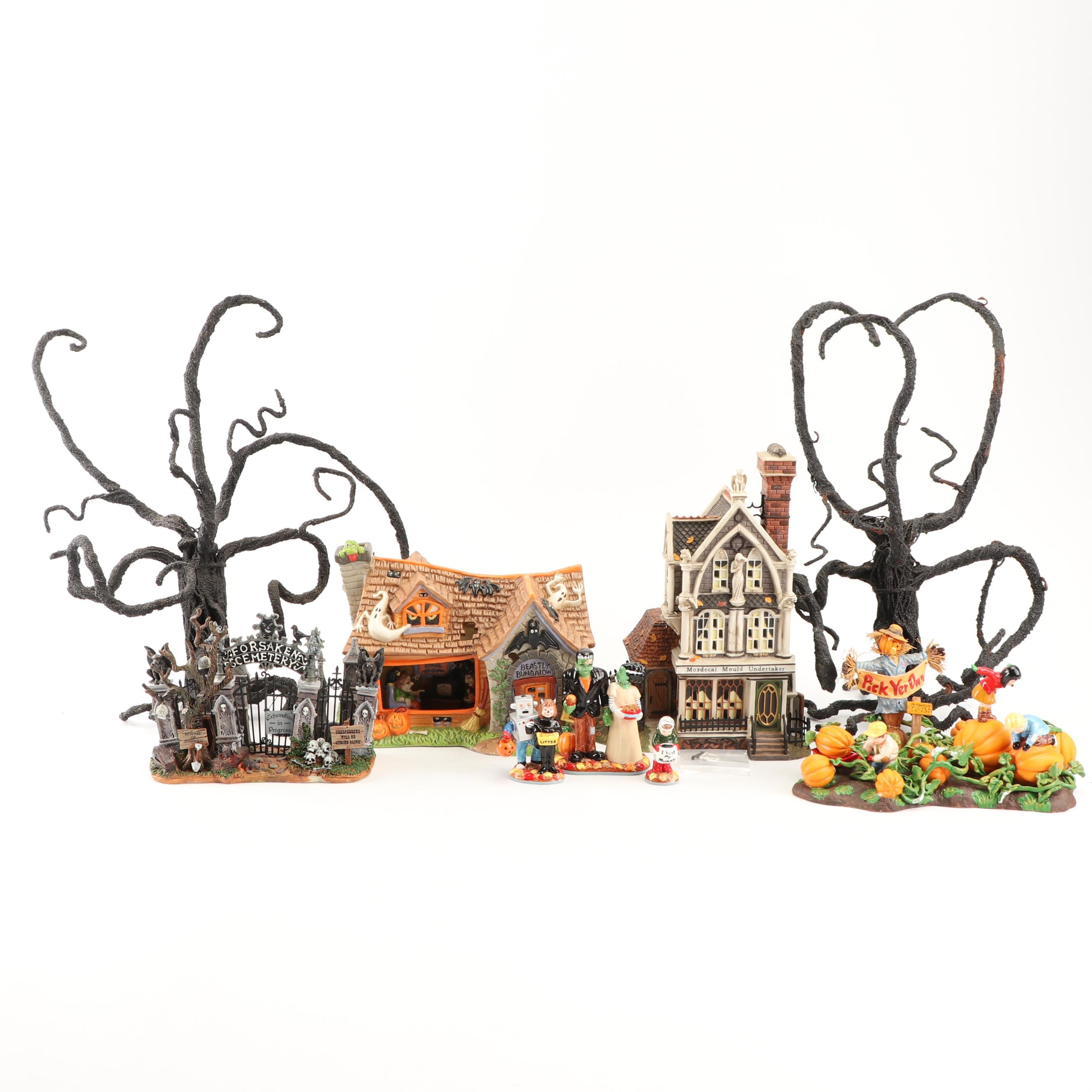 Department 56 and Lemax Spooky Town Village Houses and Accessories