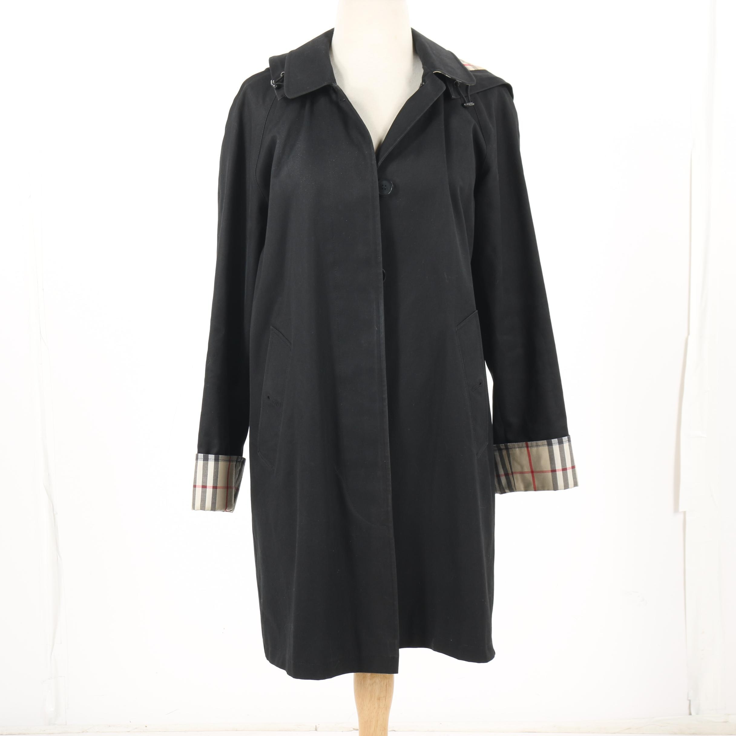Women's Burberry London Carmen Black Hooded Coat