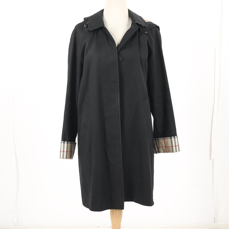 abbbff034c Women s Burberry London Carmen Black Hooded Coat   EBTH