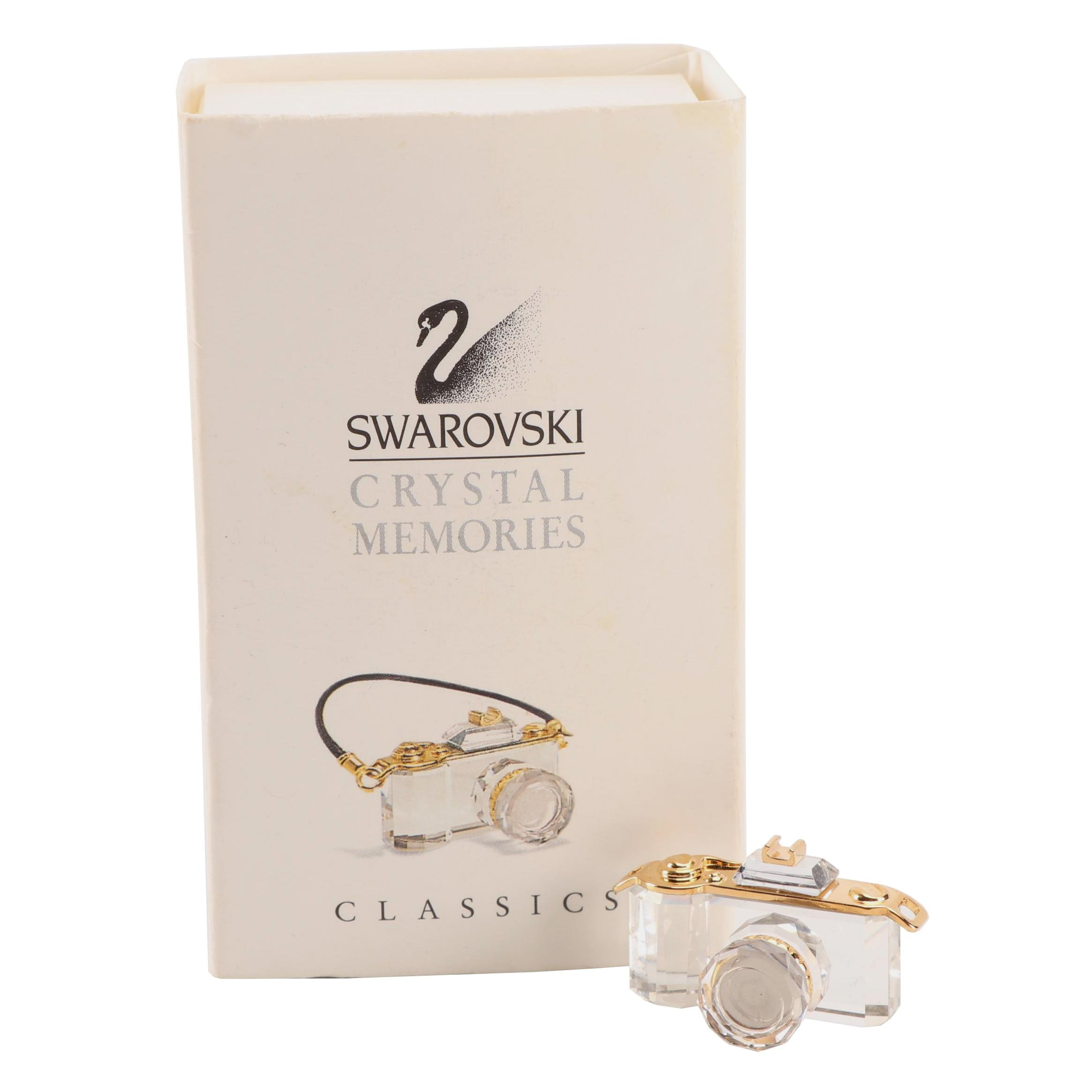 Swarovski Crystal Memories Camera with Gold Accents