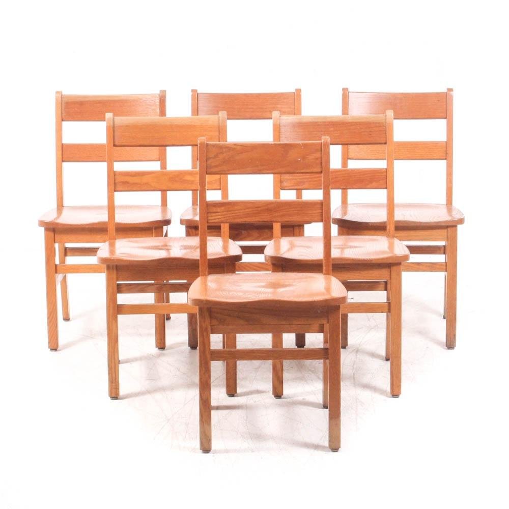 Southern Desk Company Oak School Chairs