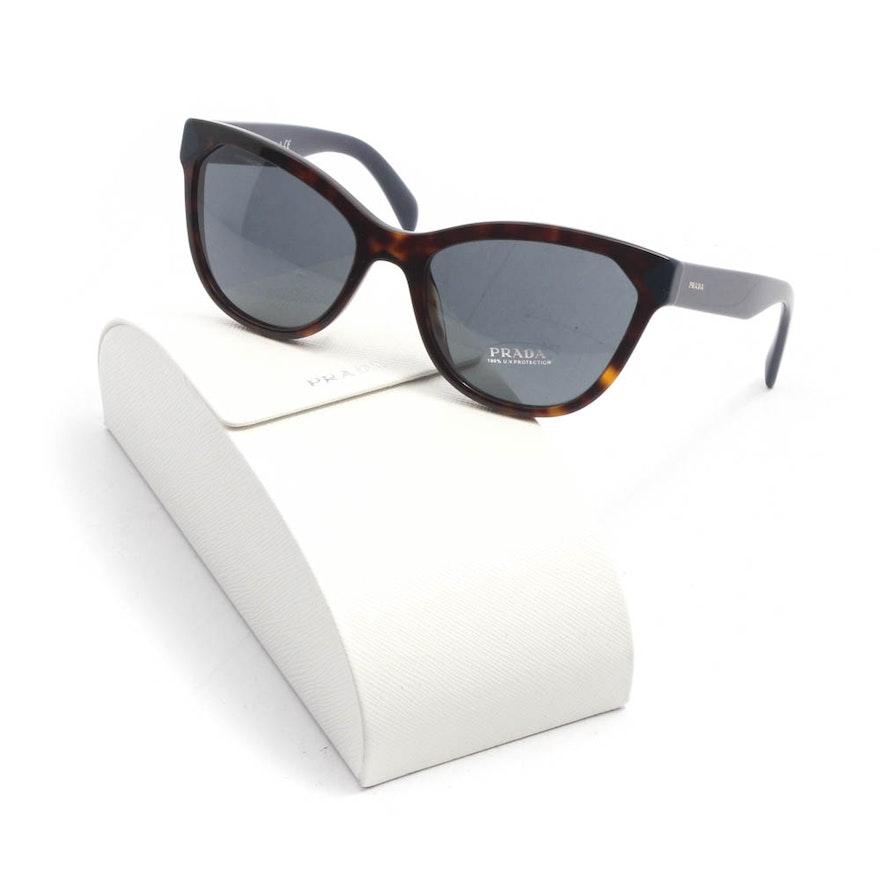 a88ea7f514a Prada Cat Eye Tortoiseshell Sunglasses with Case